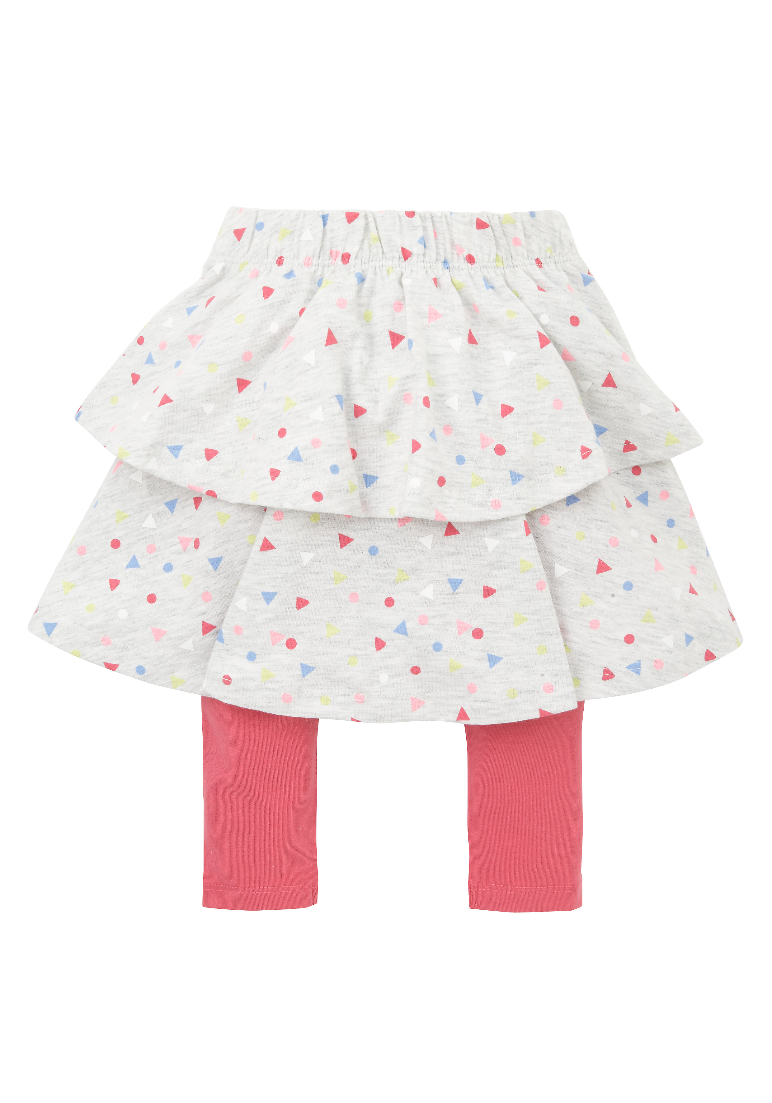 Mothercare | Girls All Over Print Skirt With Leggings - Multicolor