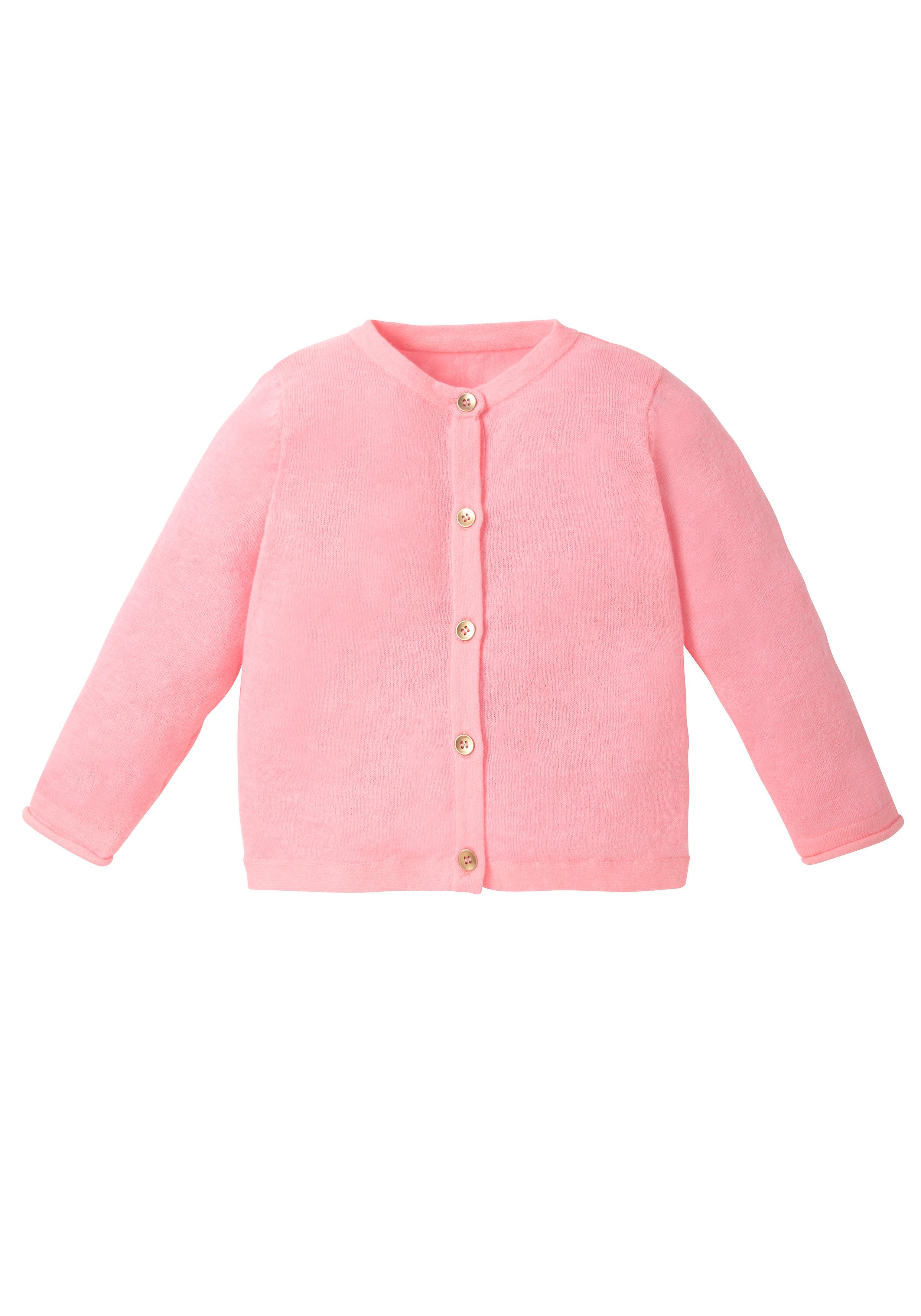 Mothercare   Girls Full Sleeves Cardigan - Pink