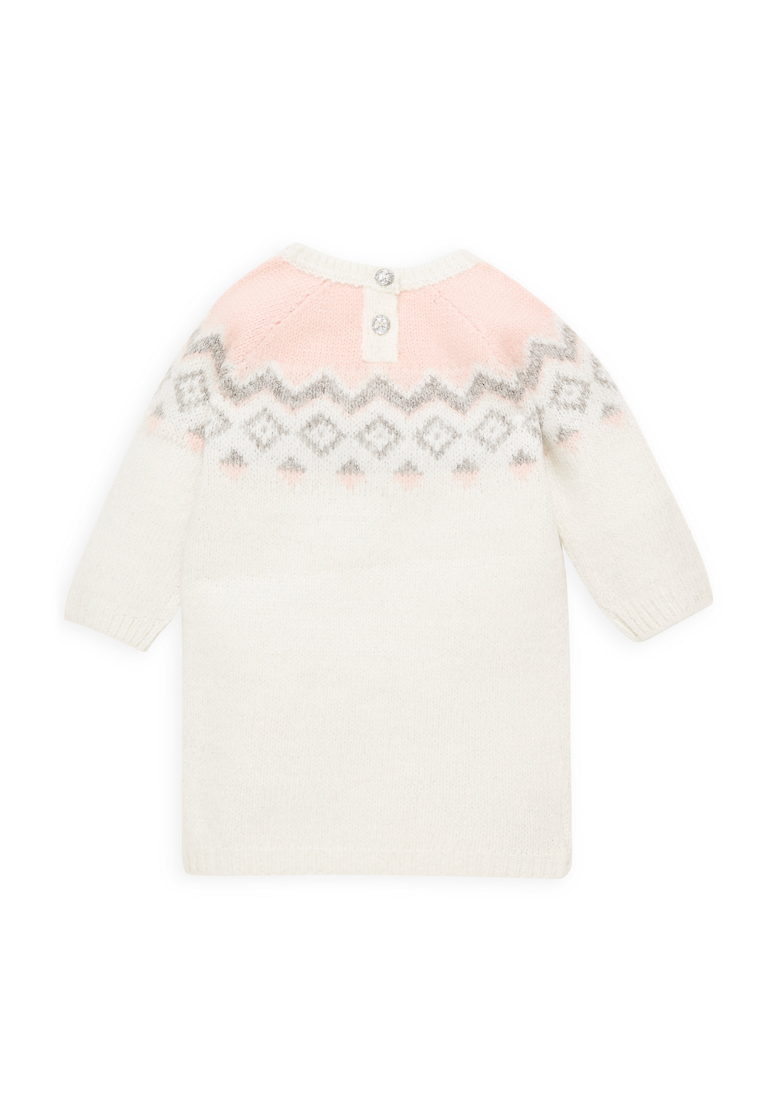 Mothercare   Girls Farisle Dress - Cream