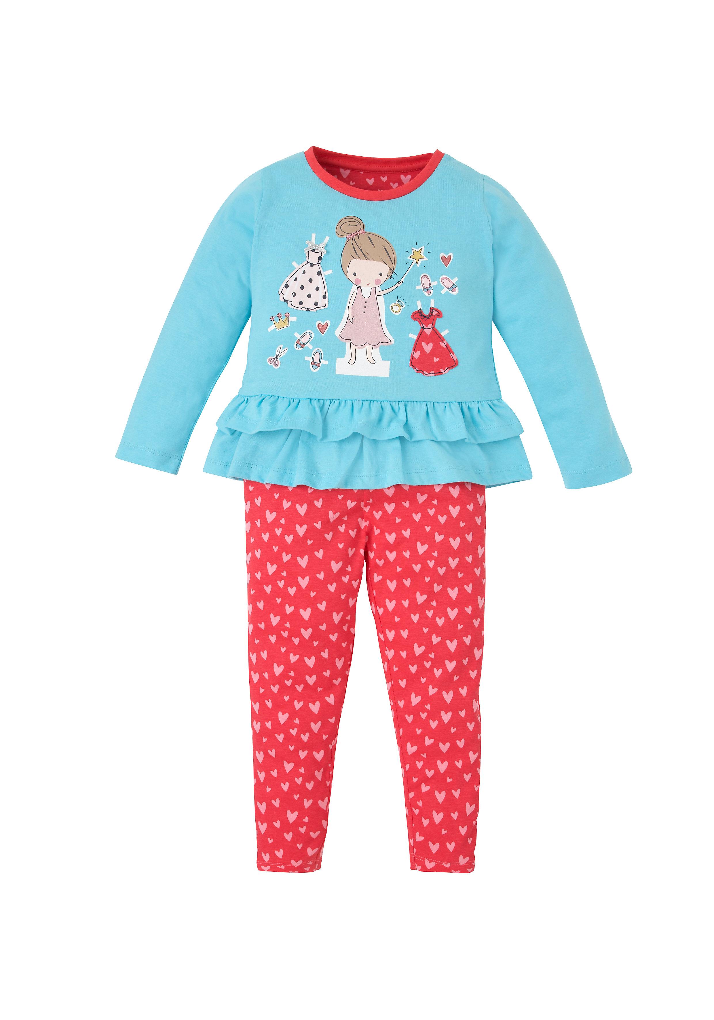 Mothercare   Girls Fairy Peplum Pyjamas - Blue Red