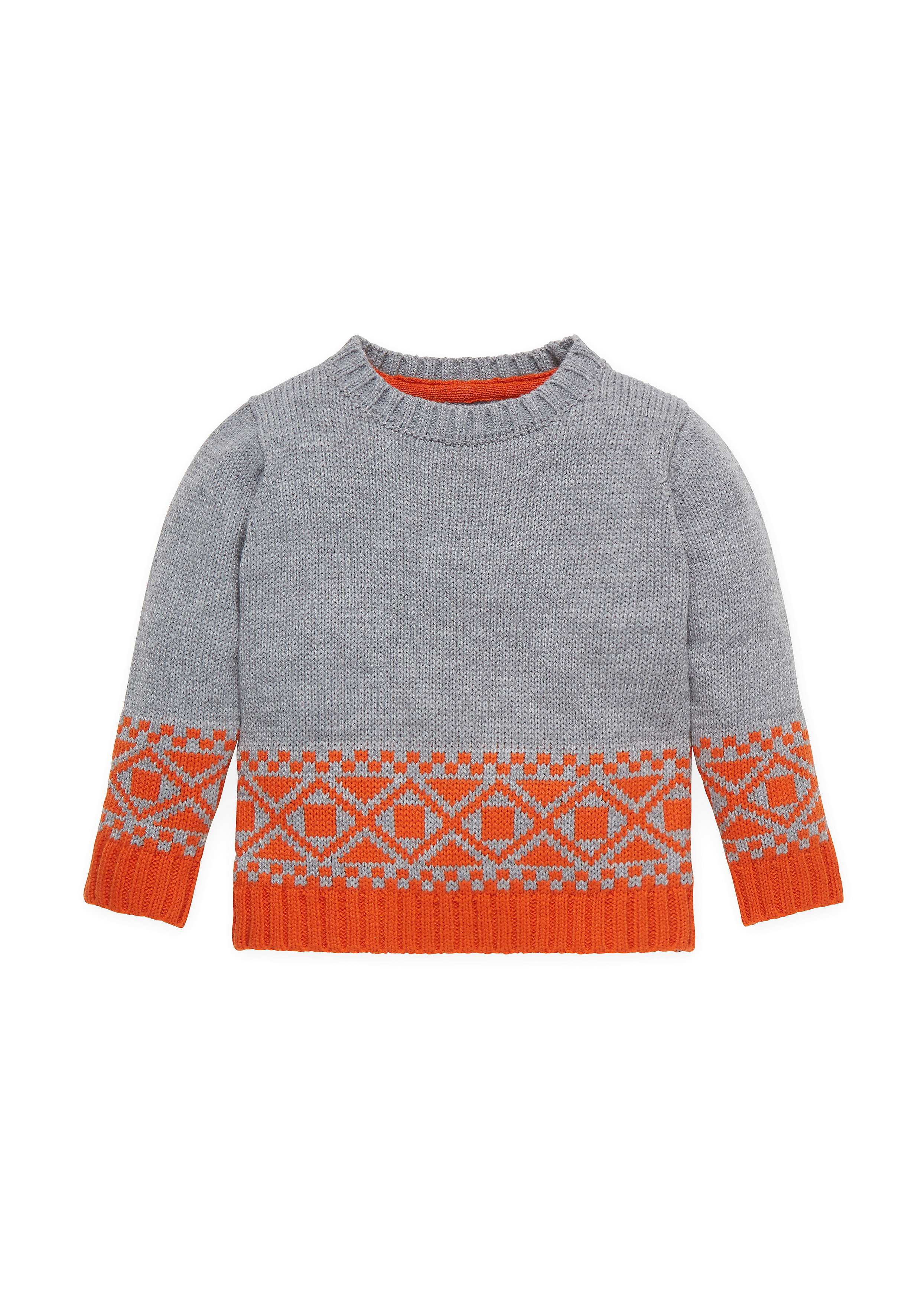 Mothercare   Boys Full Sleeves Sweaters Geo Knot - Grey