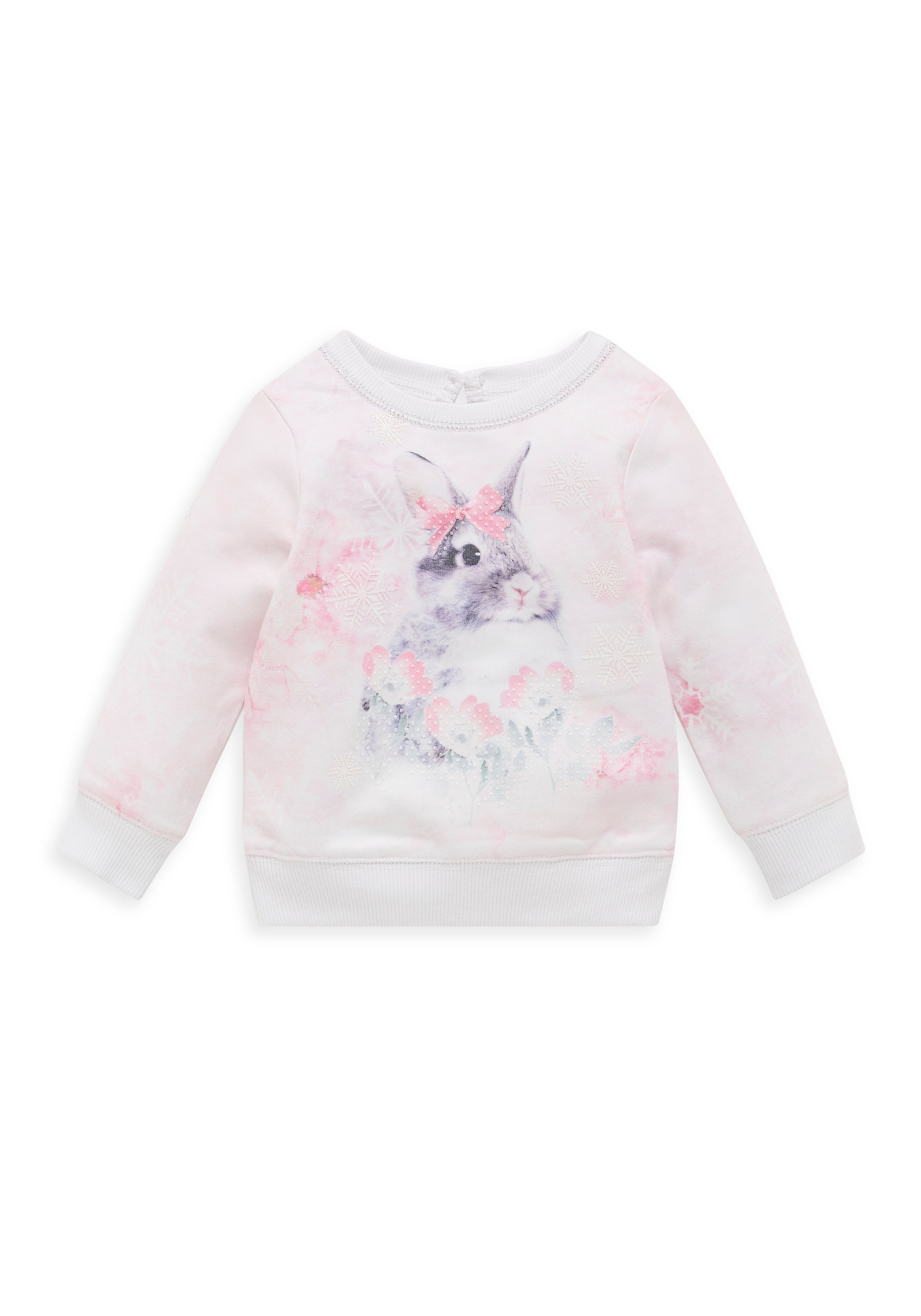 Mothercare   Girls Photographic Bunny Top - Pink
