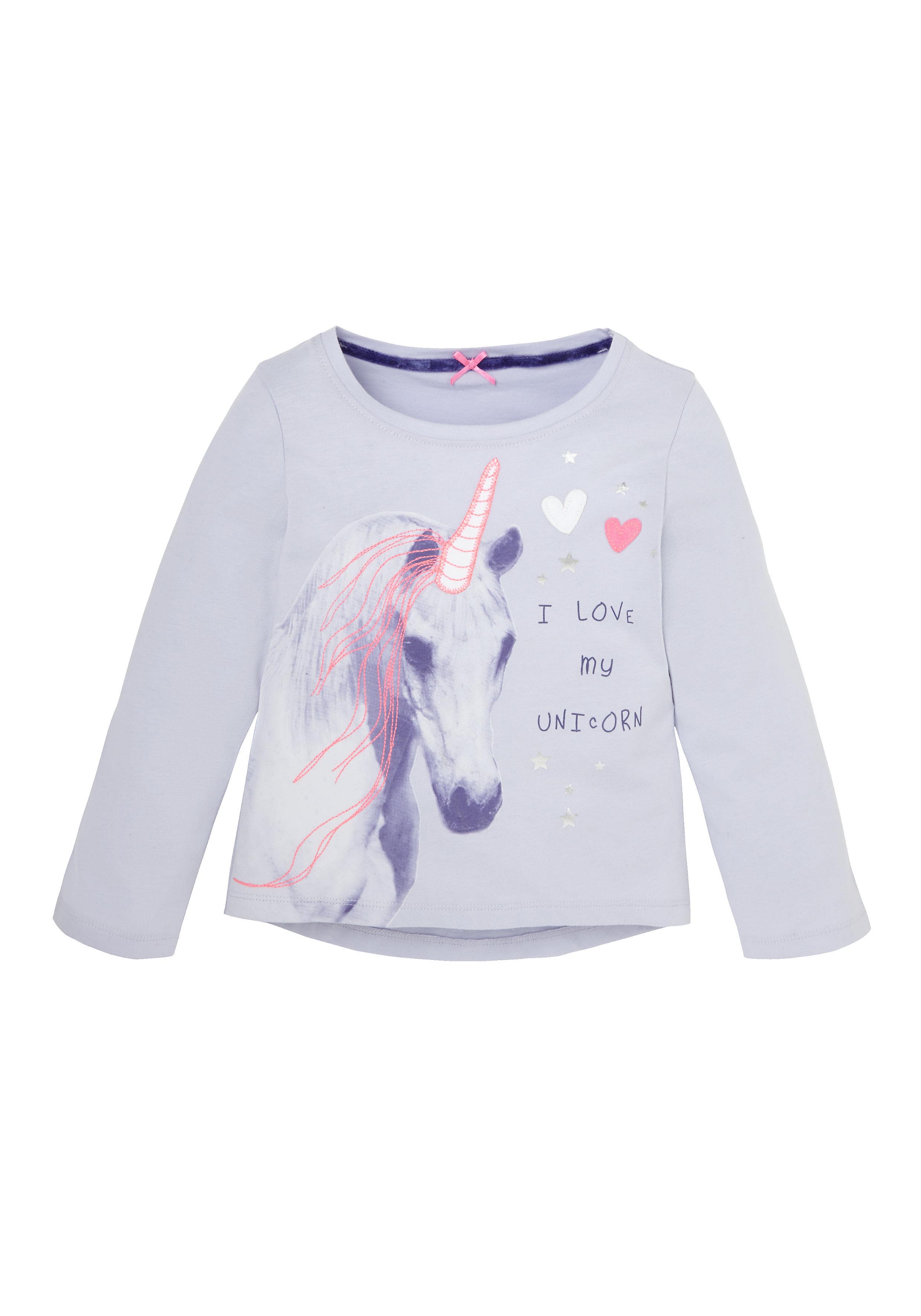 Mothercare   Girls Full Sleeves T-Shirts Unicorn Print - Blue