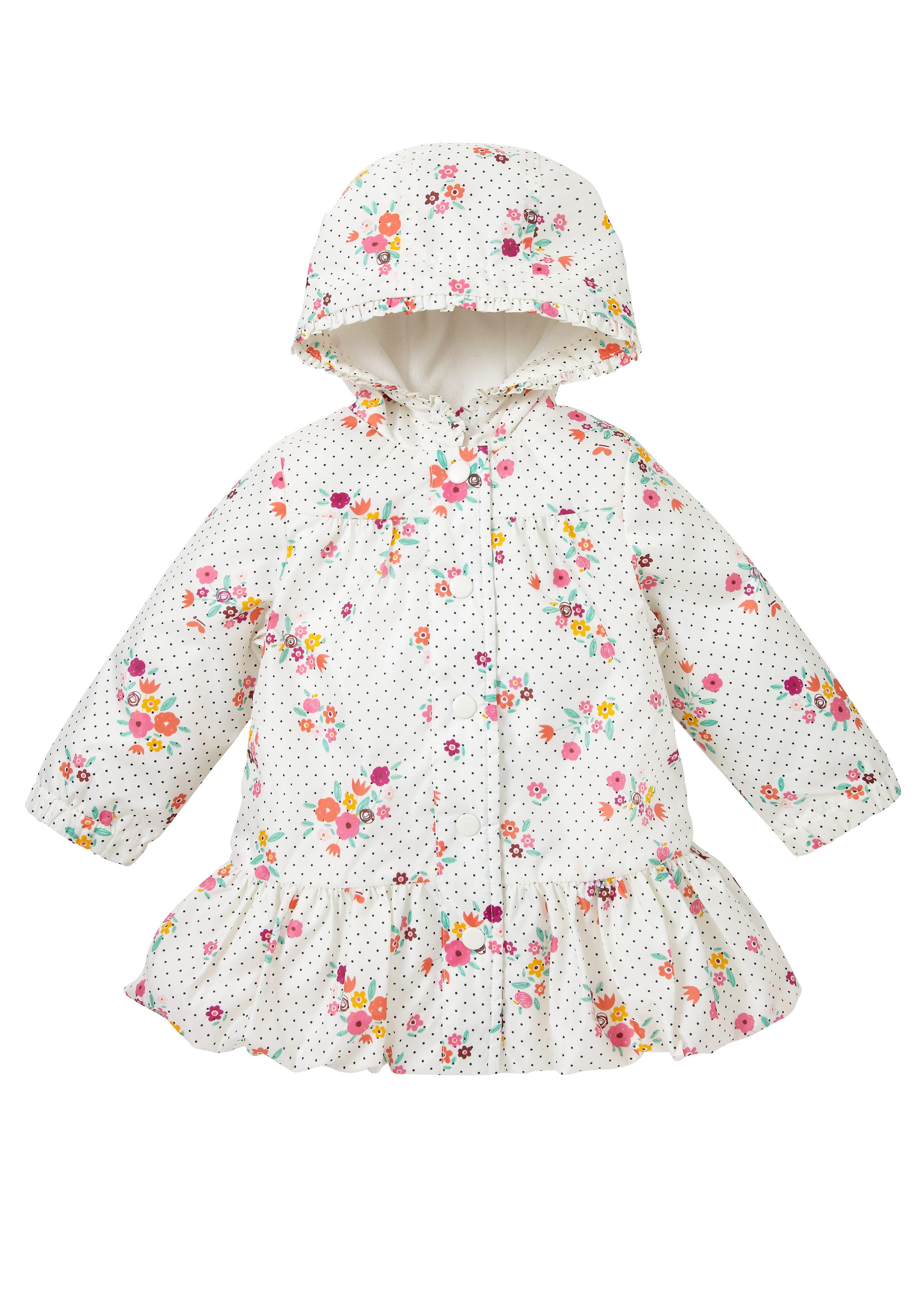 Mothercare   Girls Floral Mac - Cream