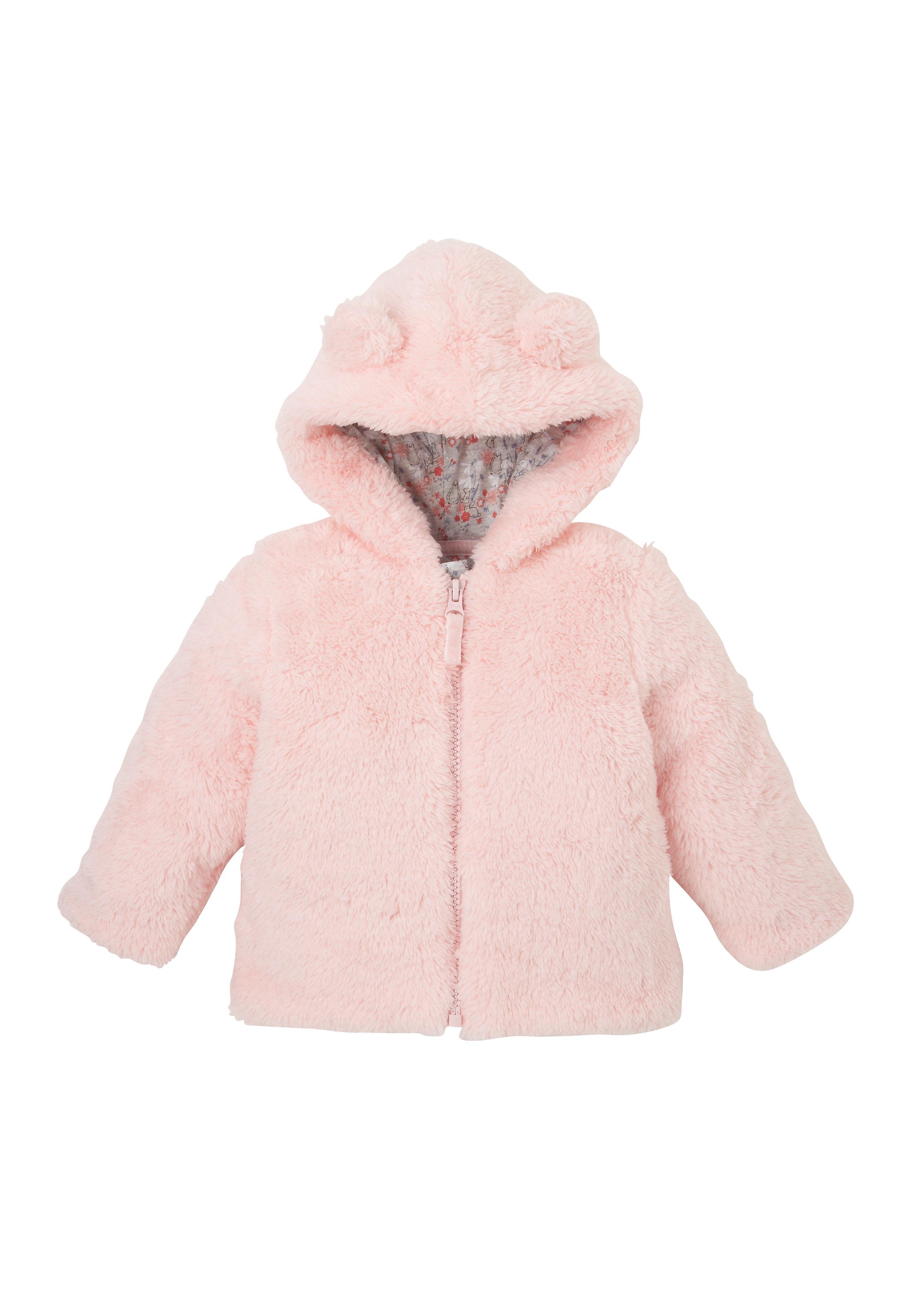 Mothercare | Girls Full Sleeves Jackets Hooded Fleece - Pink