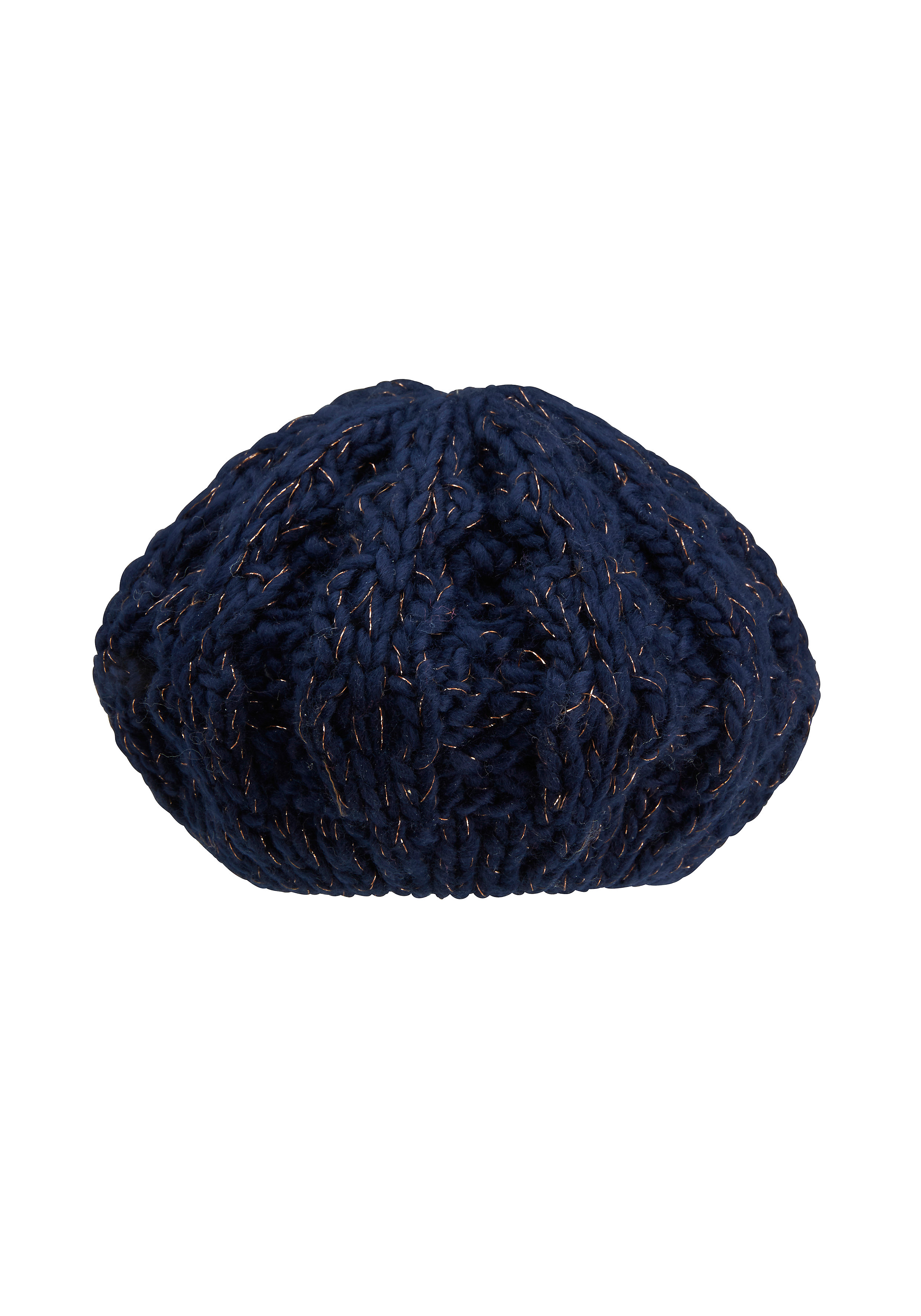 Mothercare | Girls Beanie Cable Knit - Navy