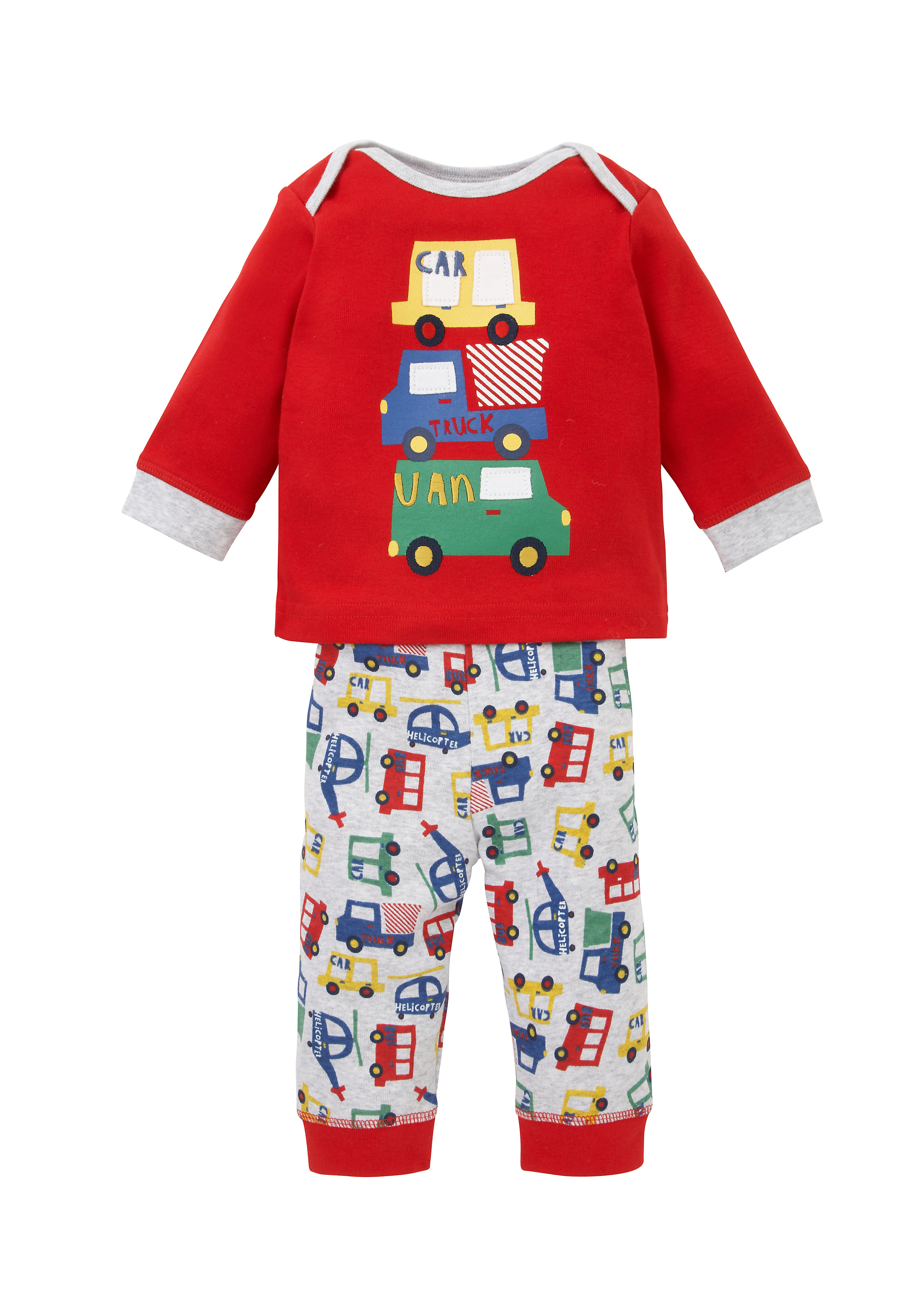 Mothercare   Boys Full Sleeves Pyjama Sets - Red