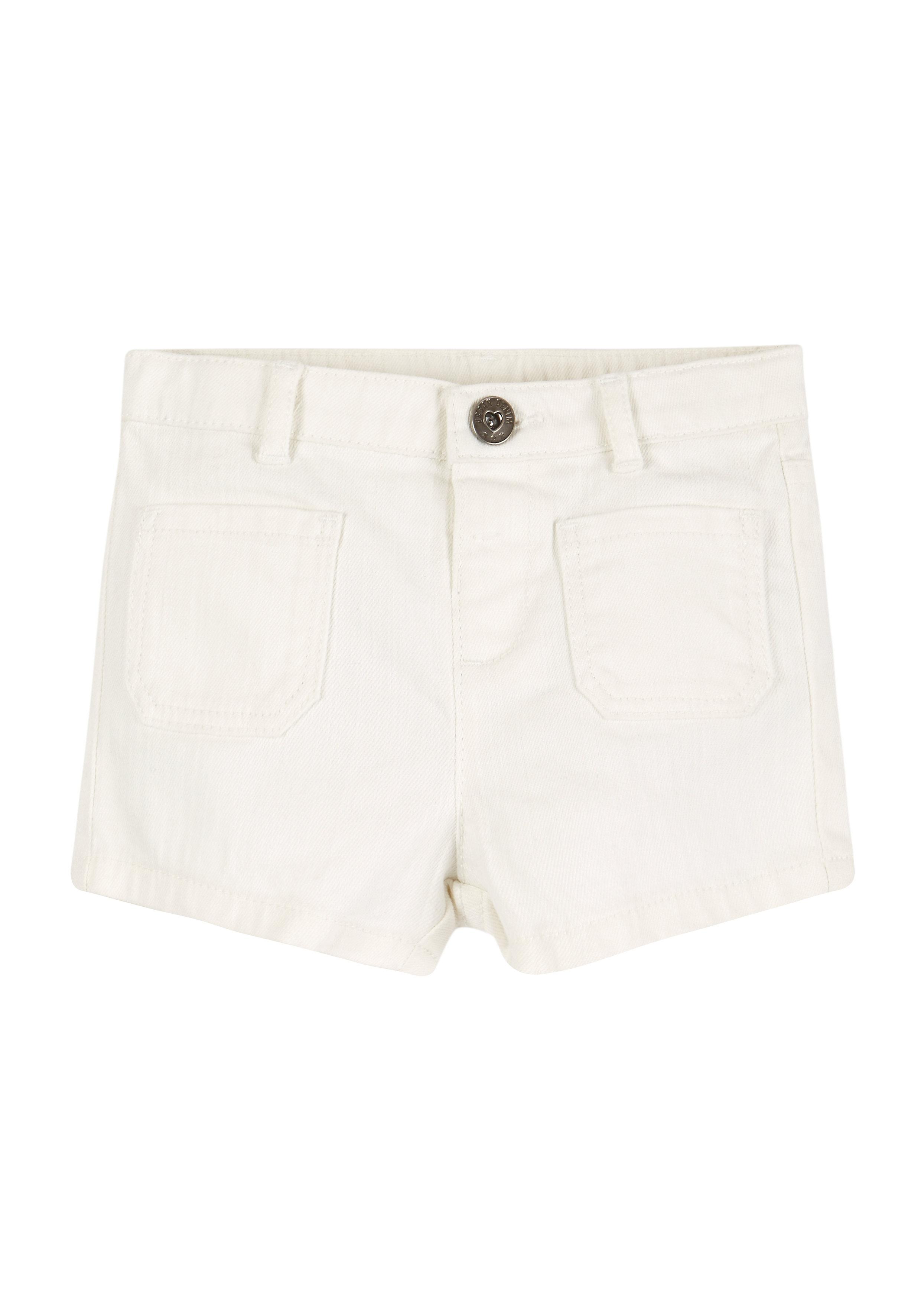 Mothercare | Girls Denim Shorts - White