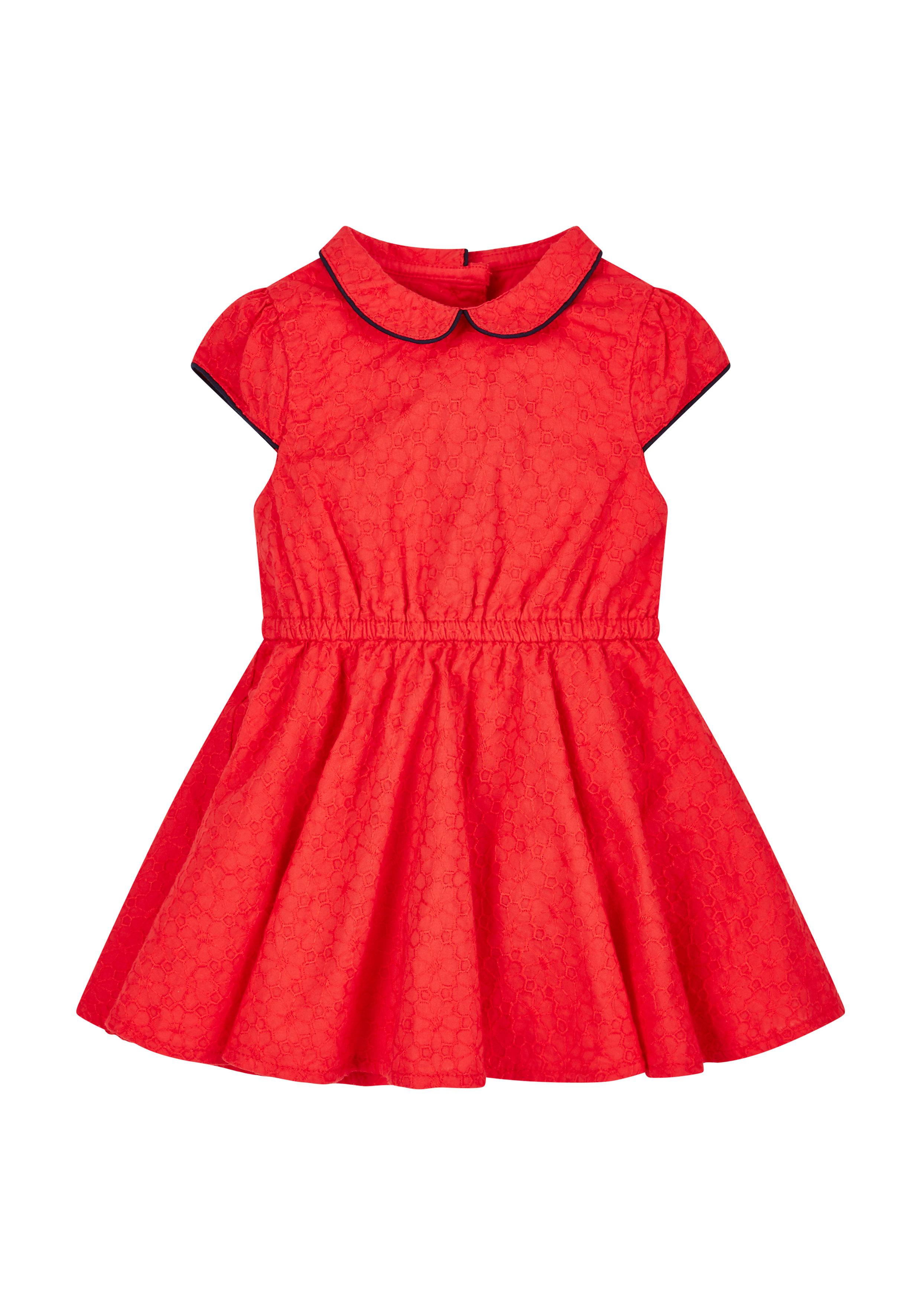 Mothercare | Girls Red Schiffli Dress