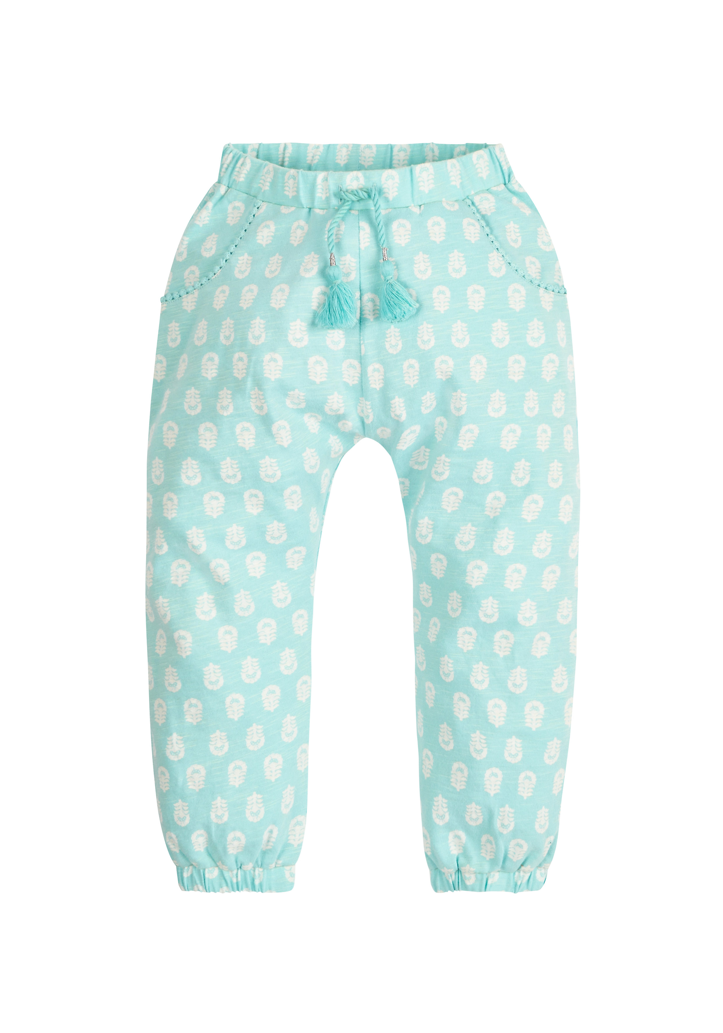 Mothercare | Turquoise Girls Turquoise All Over Print Hareem Trousers