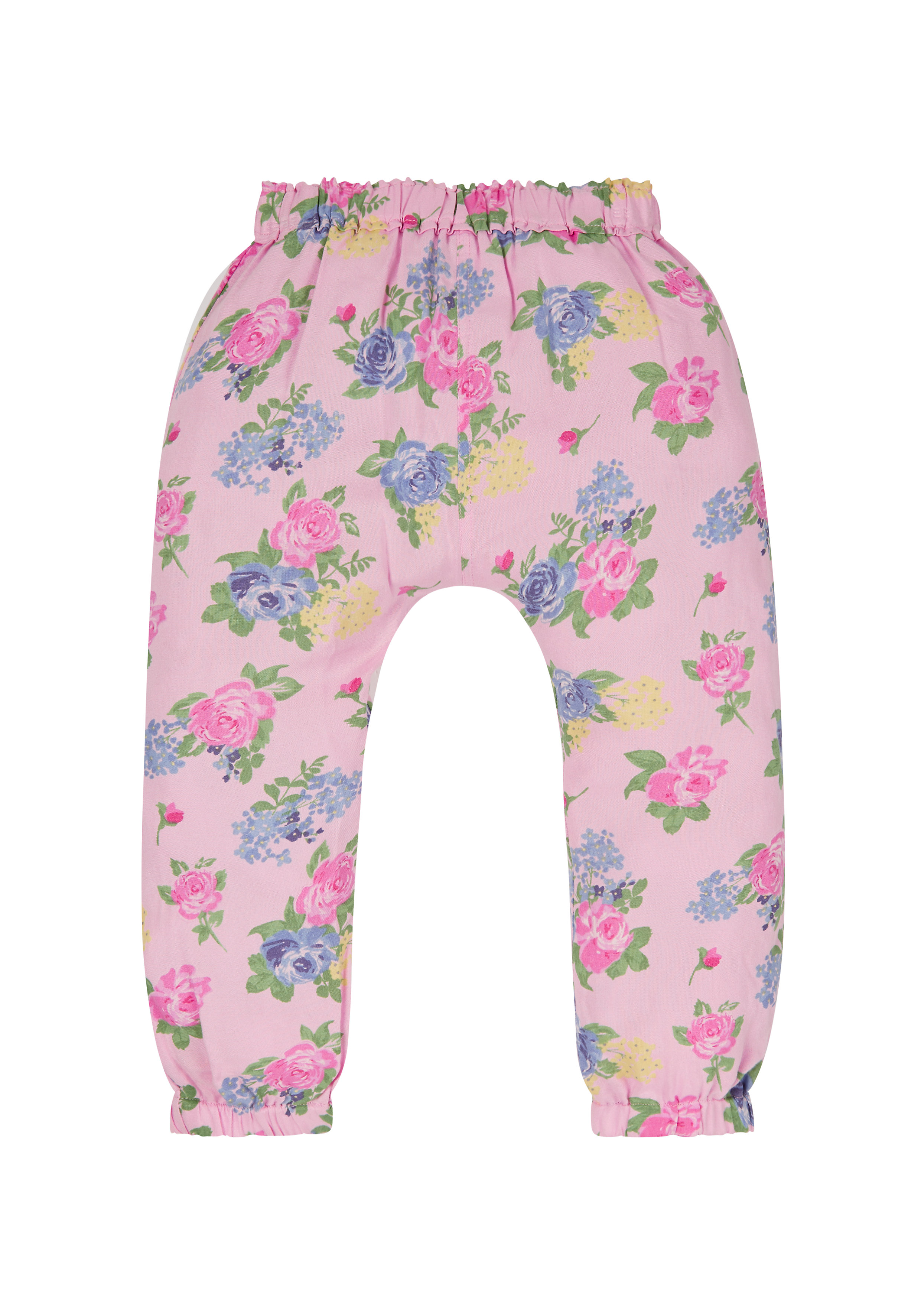 Mothercare | Girls Floral Hareem Trousers - Pink