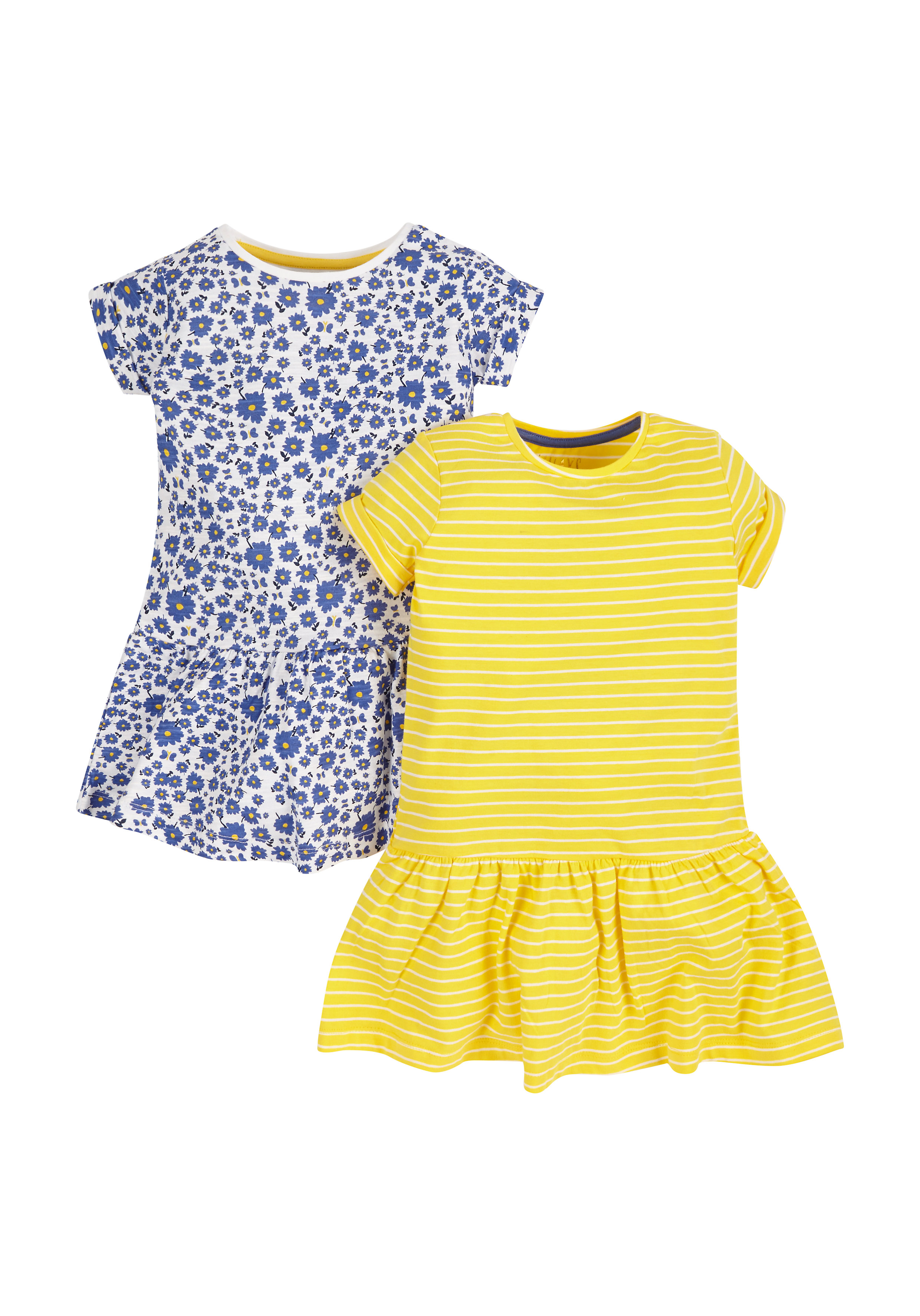 Mothercare | Girls Jersey Dresses - Pack Of 2 - Multicolor