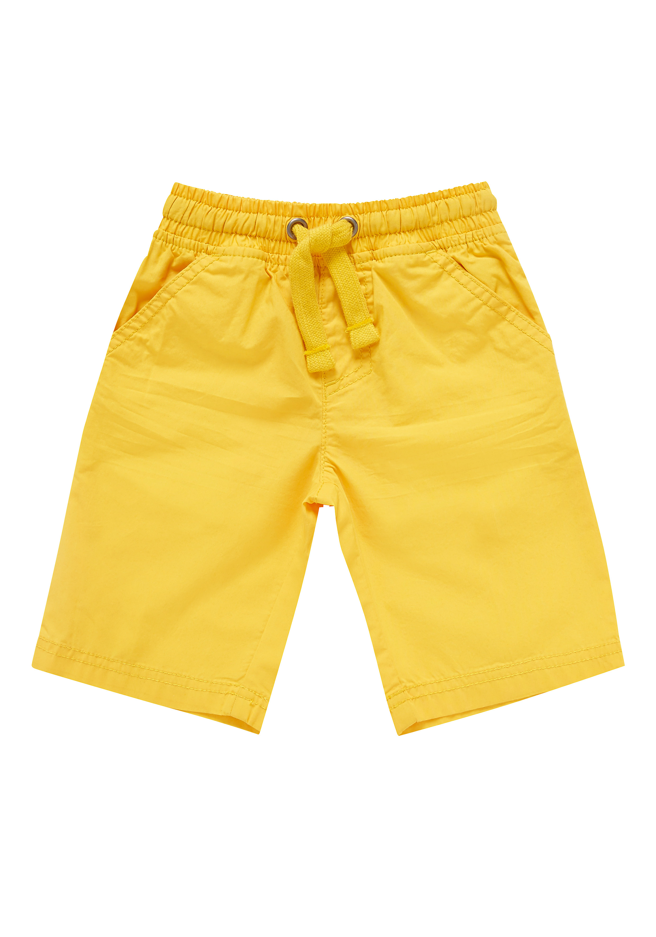 Mothercare | Boys Yellow Poplin Shorts