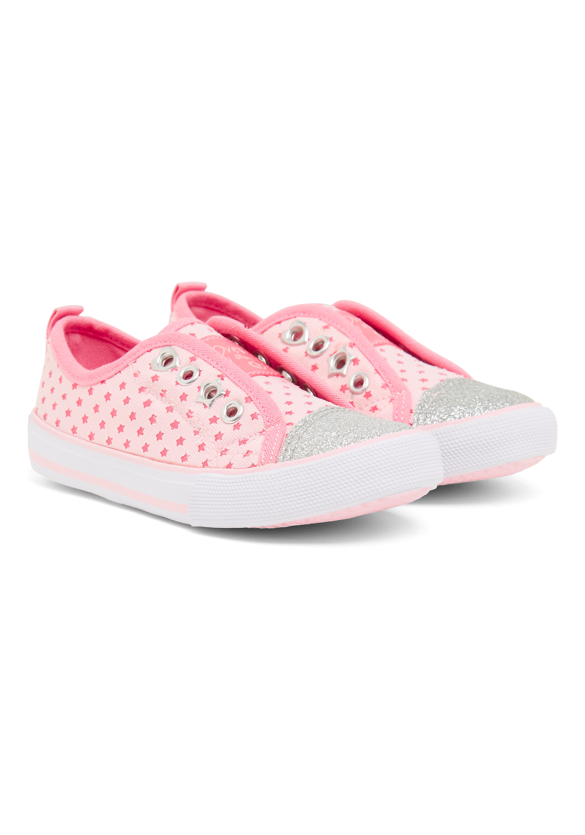 Mothercare | Girls Star Canvas Shoes - Pink