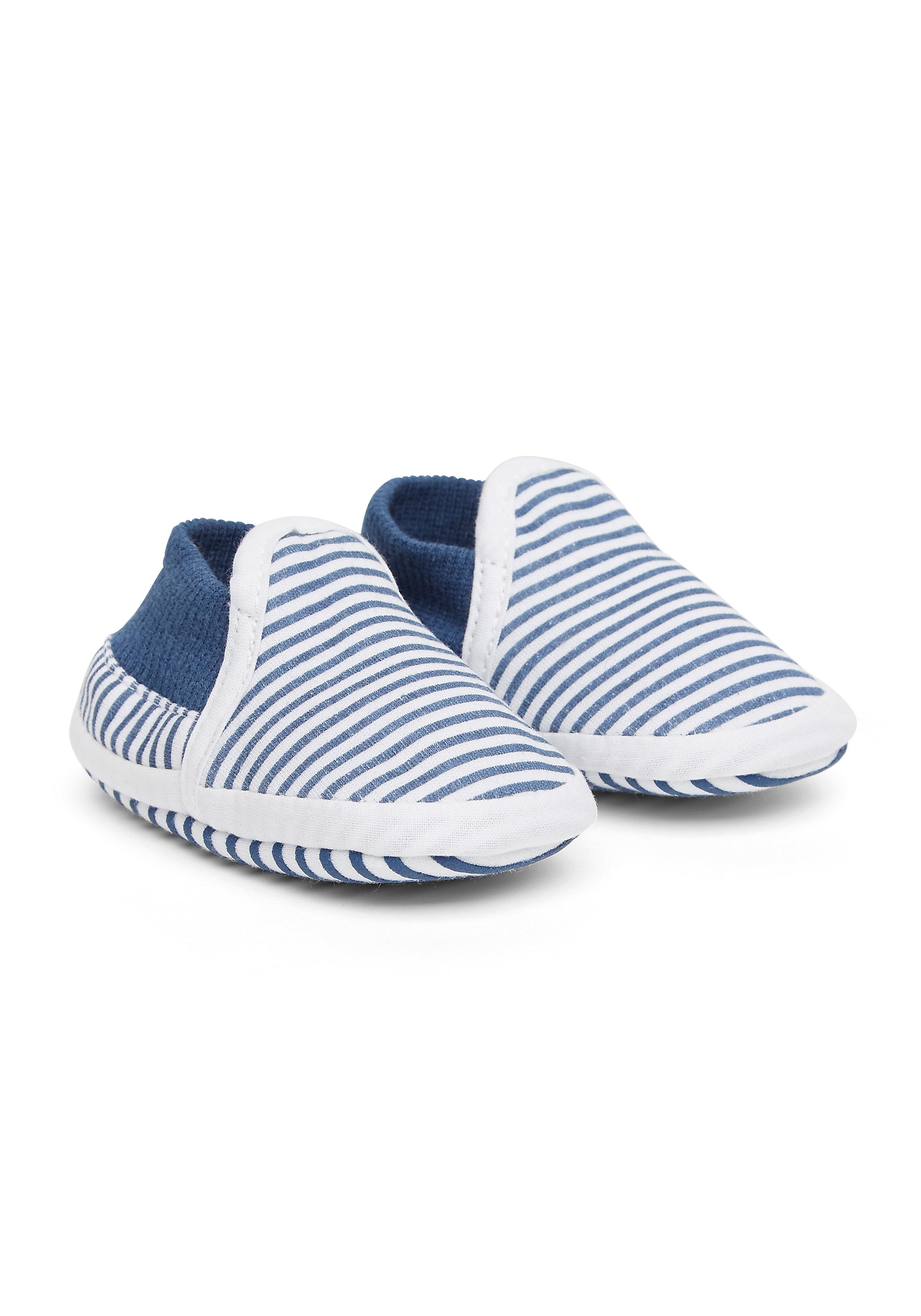 Mothercare   Boys Ticking Stripe Baggies - Blue