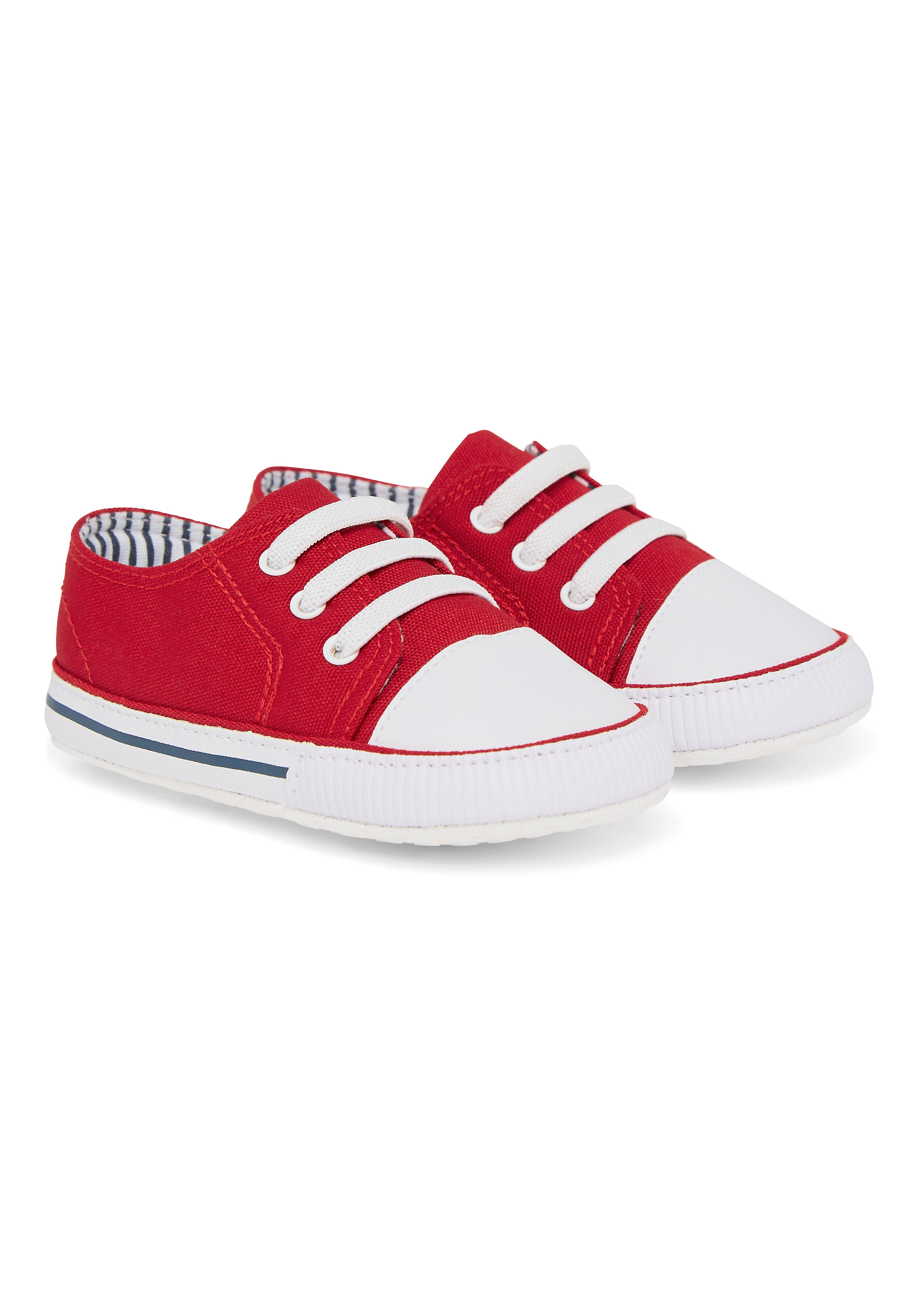 Mothercare   Boys Red Canvas Pram Shoes