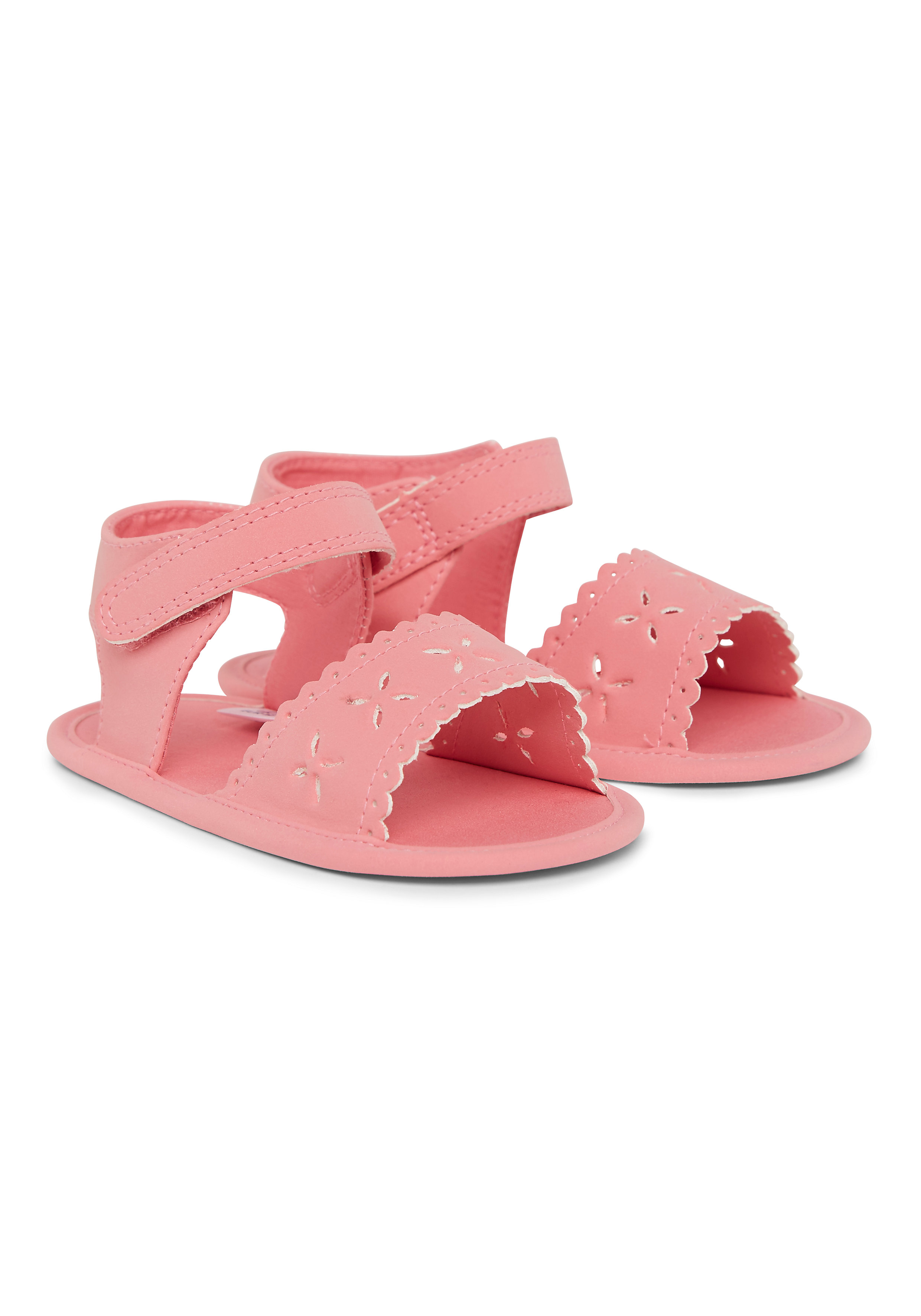 Mothercare   Girls Cut Out Flower Sandals - Pink