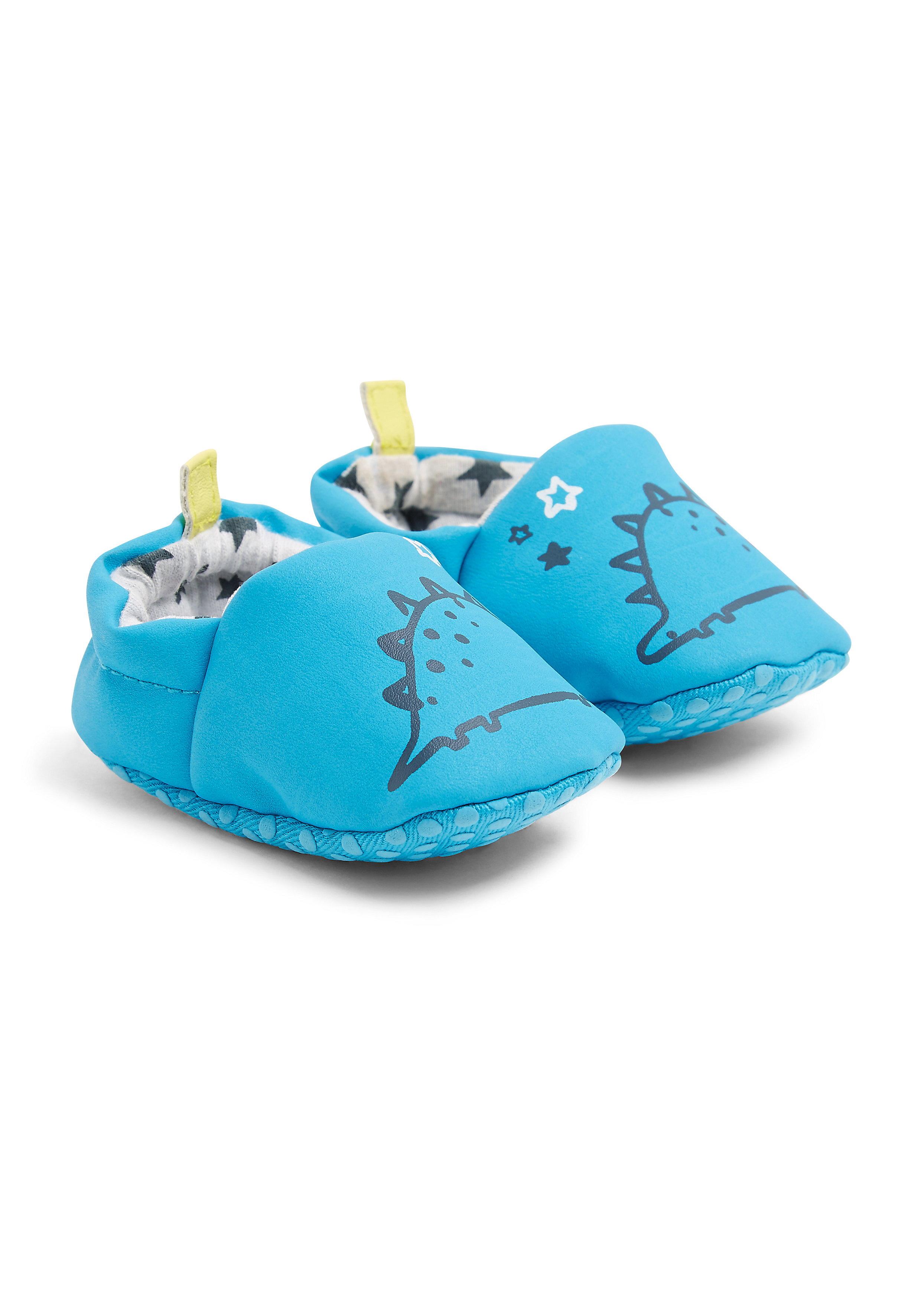 Mothercare   Boys Dinosaur Slippers - Blue