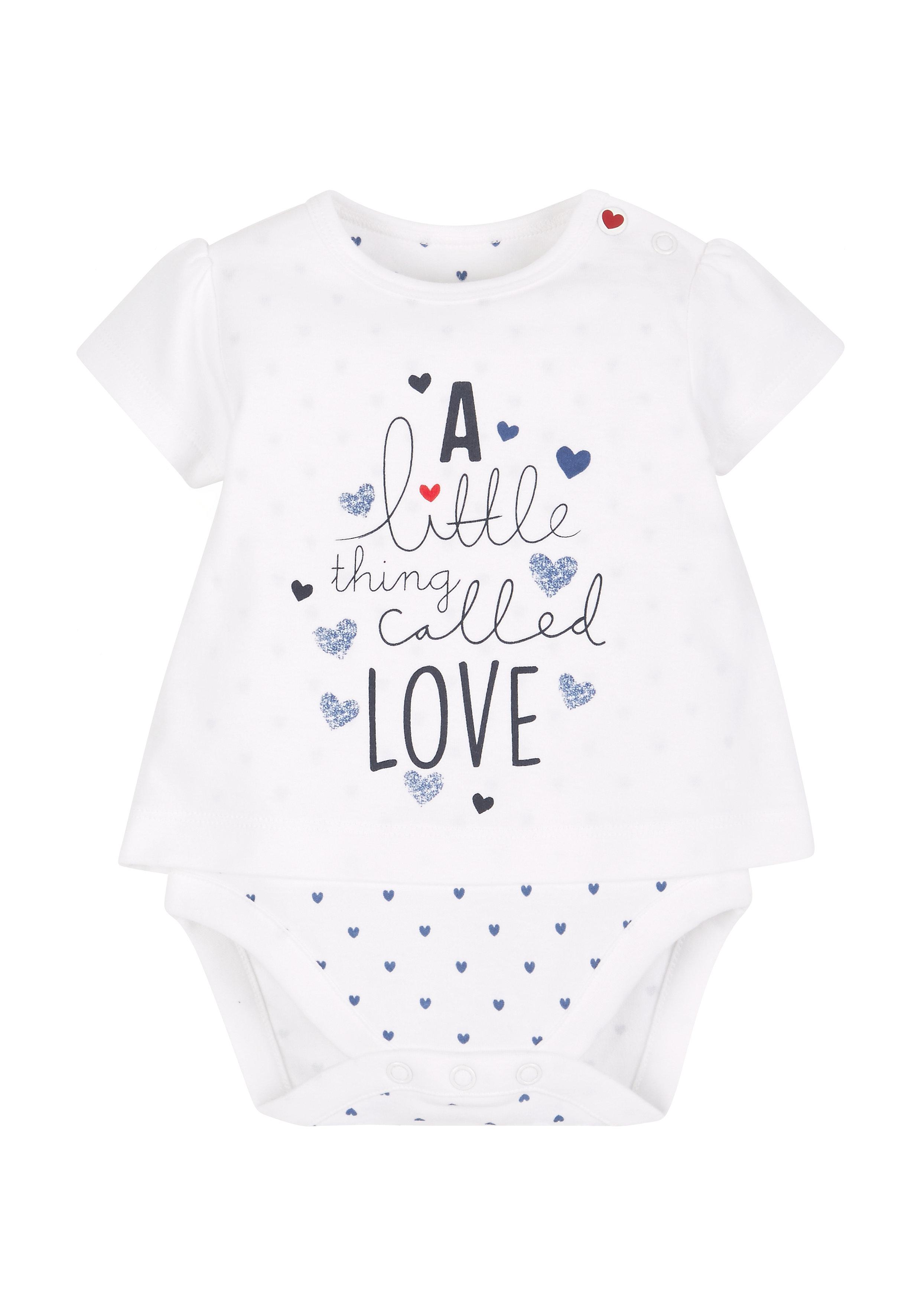 Mothercare | Girls Text Print Mock Bodysuit