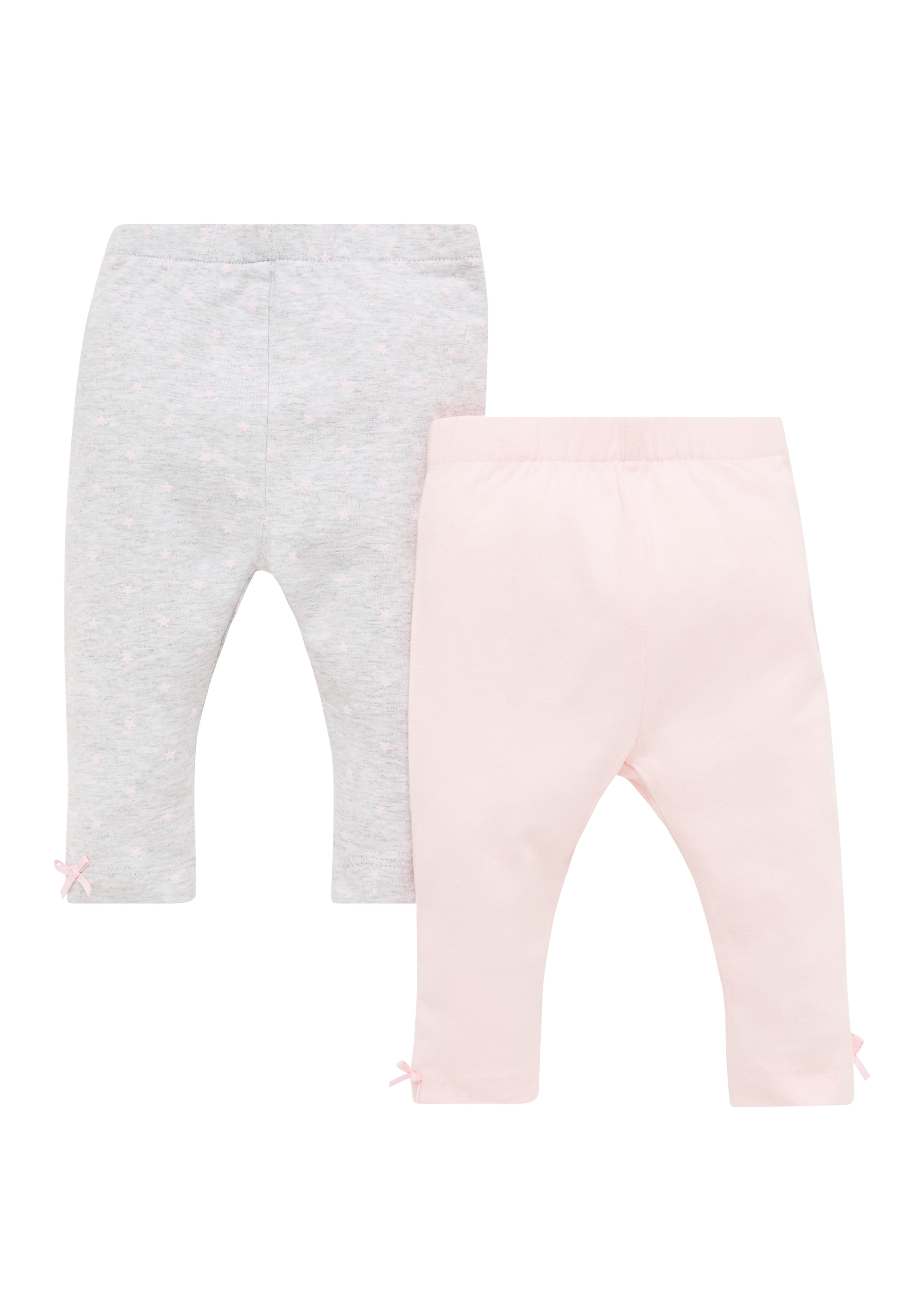 Mothercare | Girls Star Print And Pink Leggings - Pack Of 2