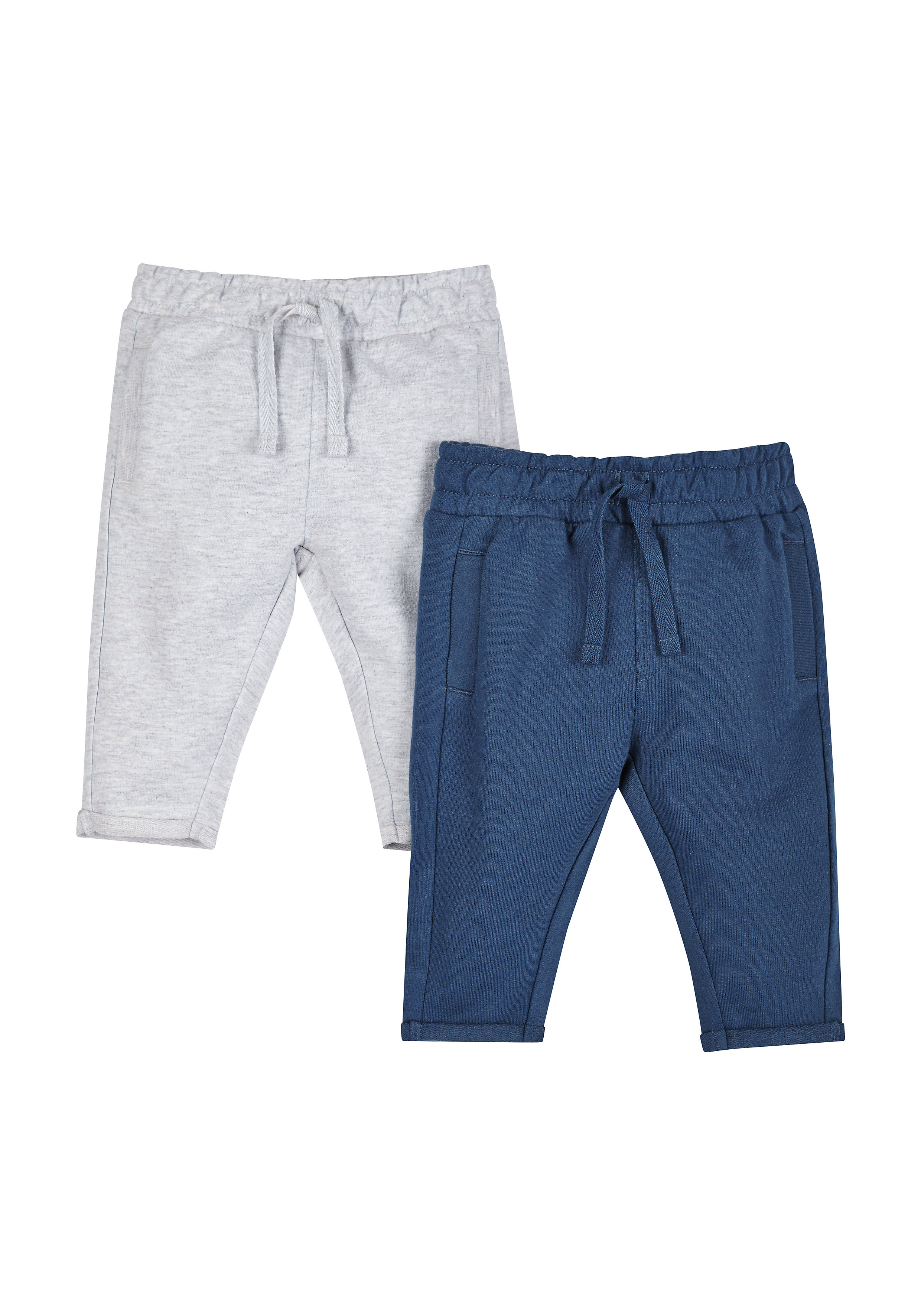 Mothercare | Boys Grey Marl And Navy Joggers - Pack Of 2