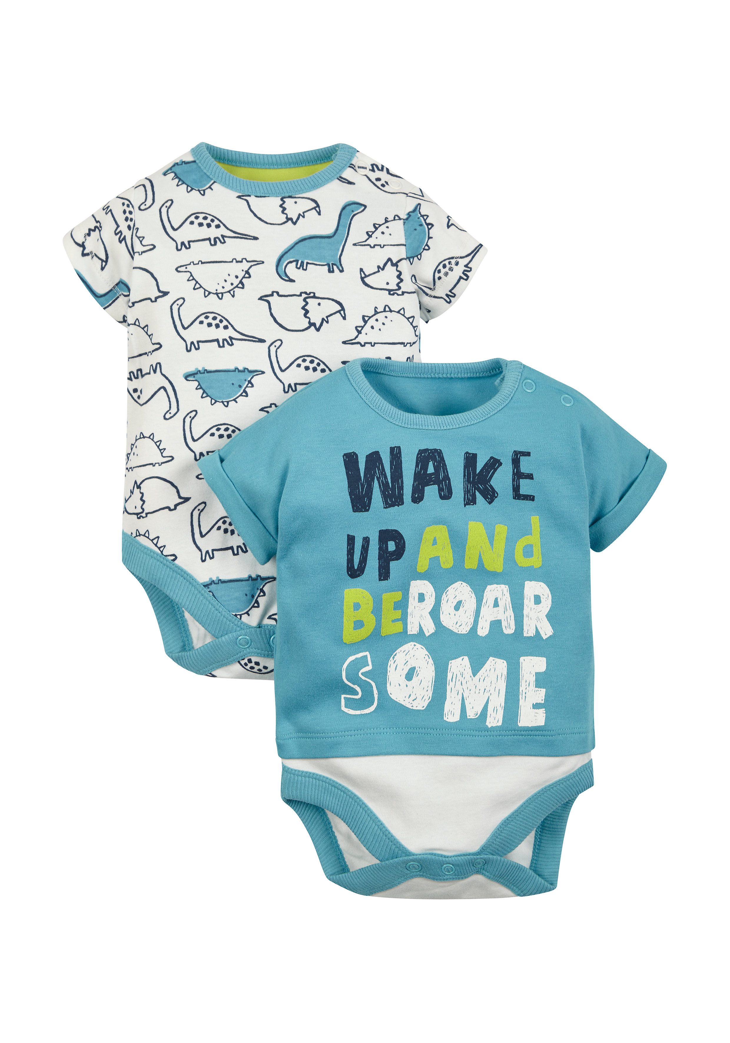 Mothercare | Boys Bodysuits - Pack Of 2 - Multicolor