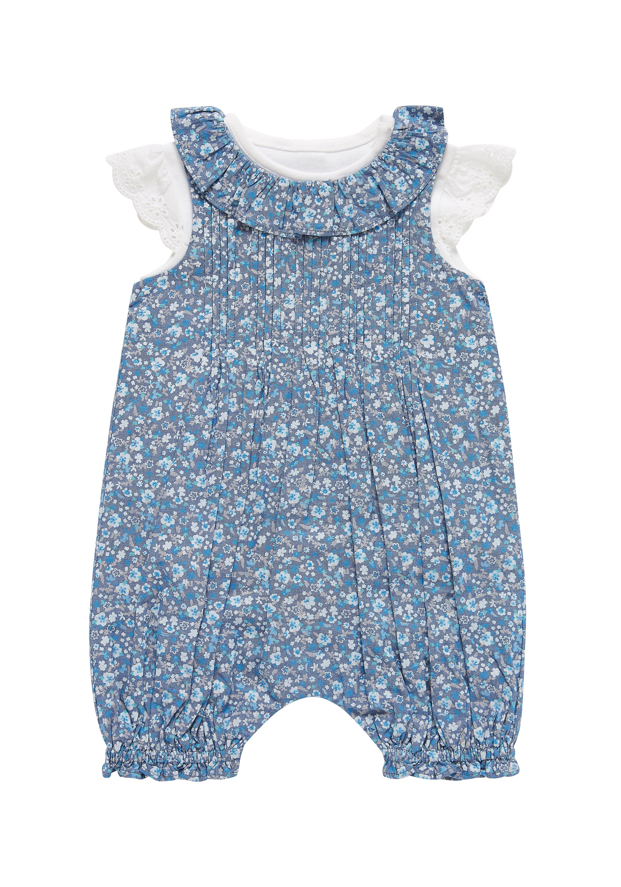 Mothercare | Girls Bodysuit And Bibshorts Set