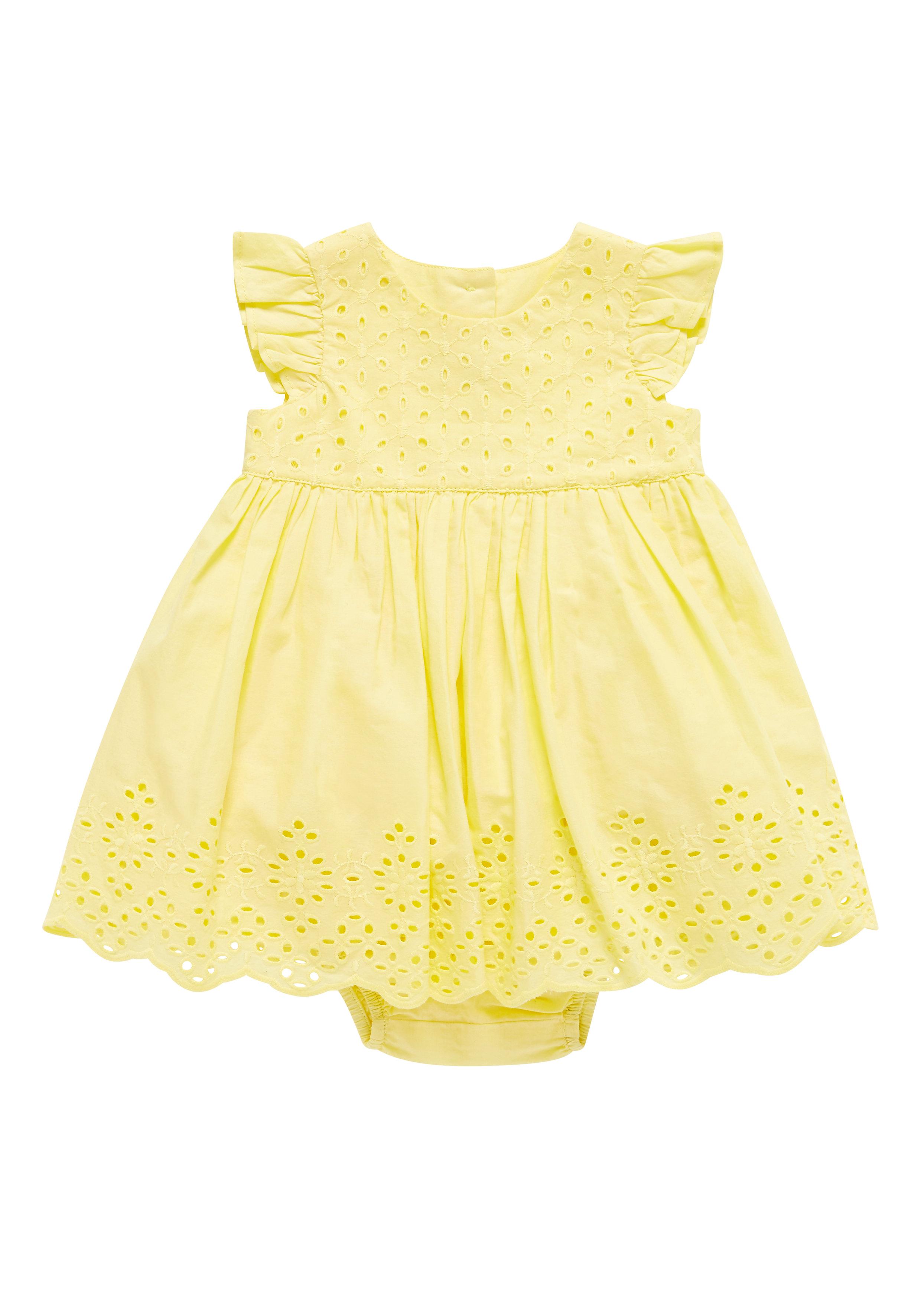Mothercare | Girls Yellow Schliffli Dress