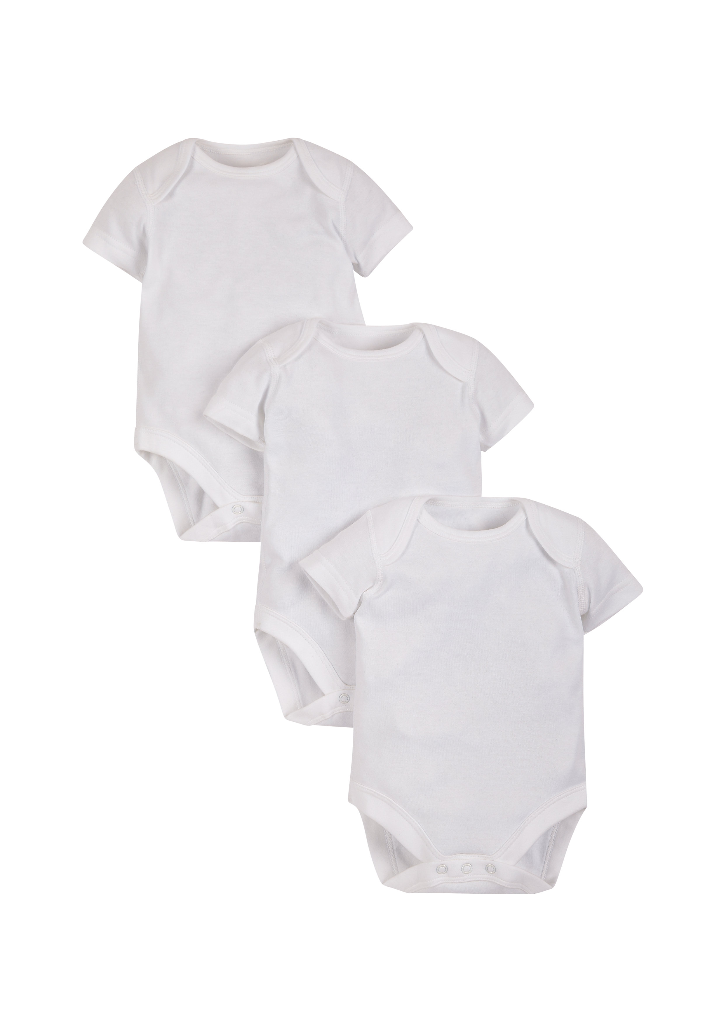 Mothercare | Unisex Bodysuits - Pack Of 3 - White