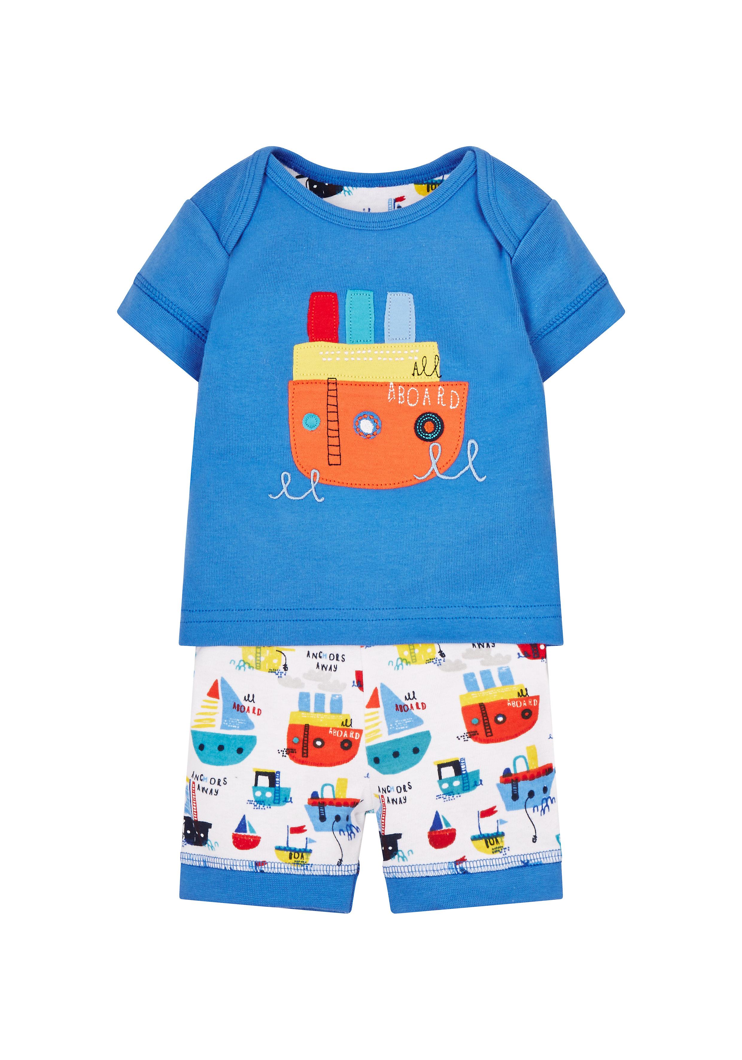 Mothercare | Boys Little Boat Shortie Pyjamas