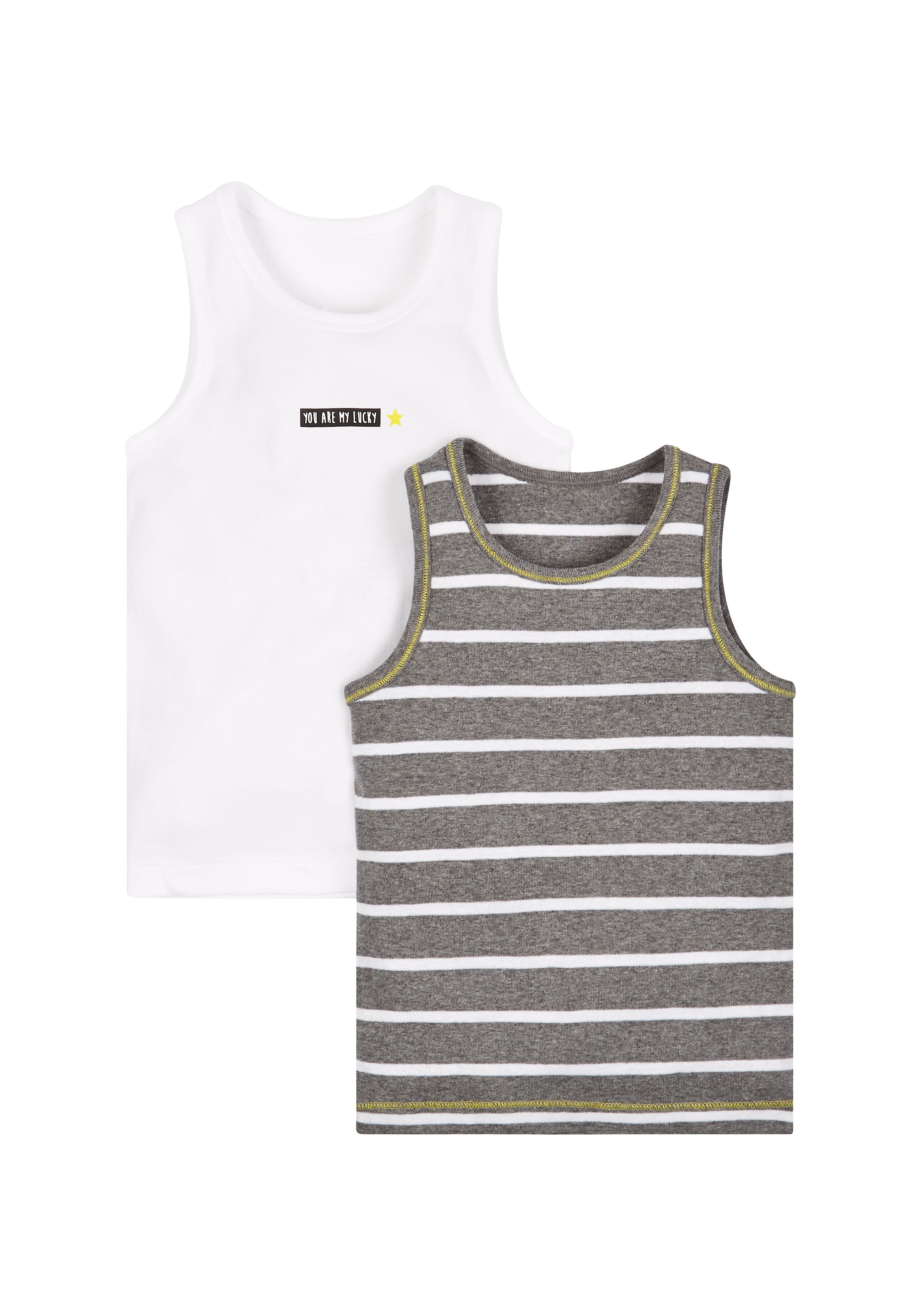 Mothercare   Multicolor Boys Lucky Star Vests - Pack Of 2