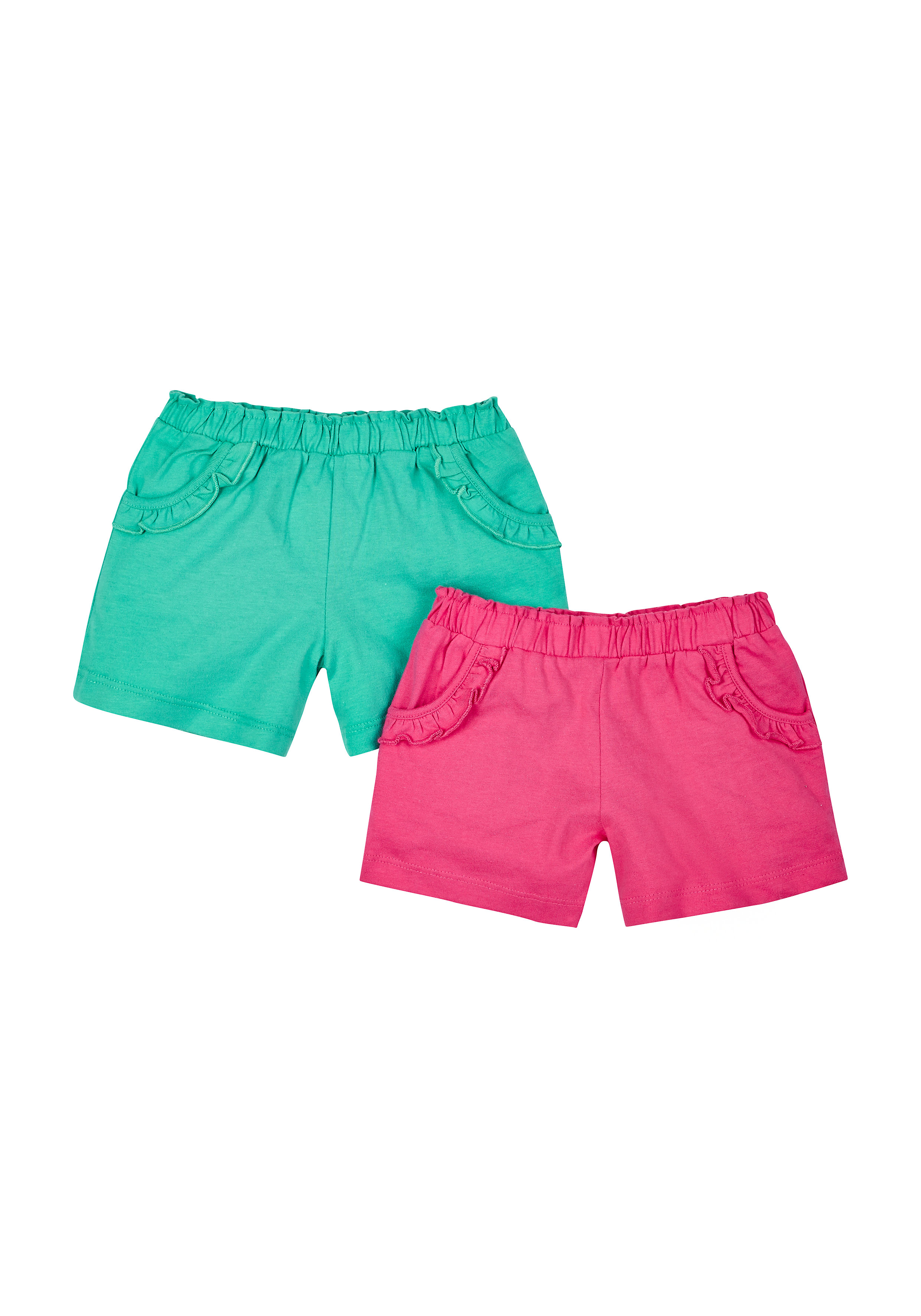 Mothercare | Girls Teal And Pink Shorts - Pack Of 2