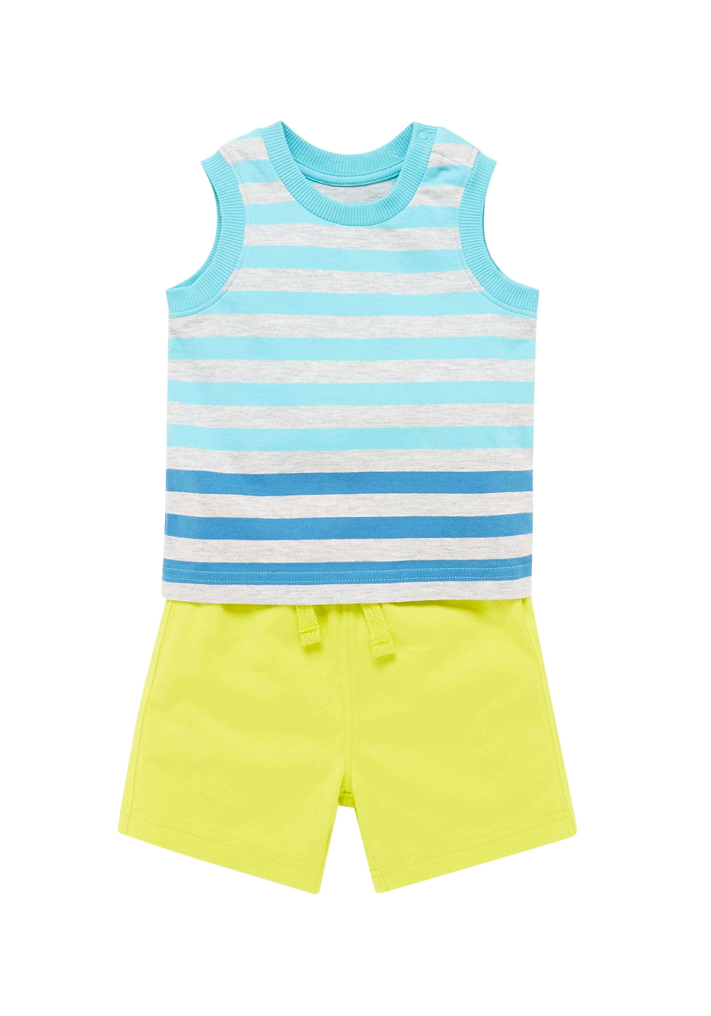 Mothercare | Boys Stripy Vest And Shorts Set