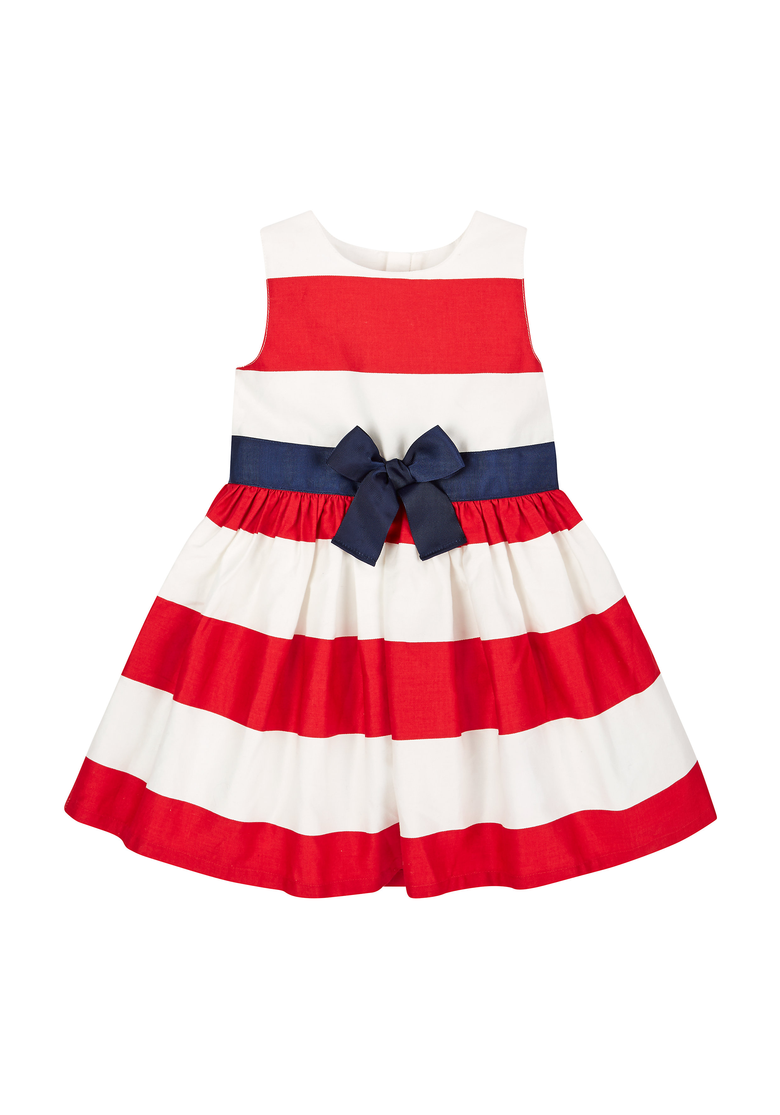 Mothercare | Girls Red And White Stripe Dress