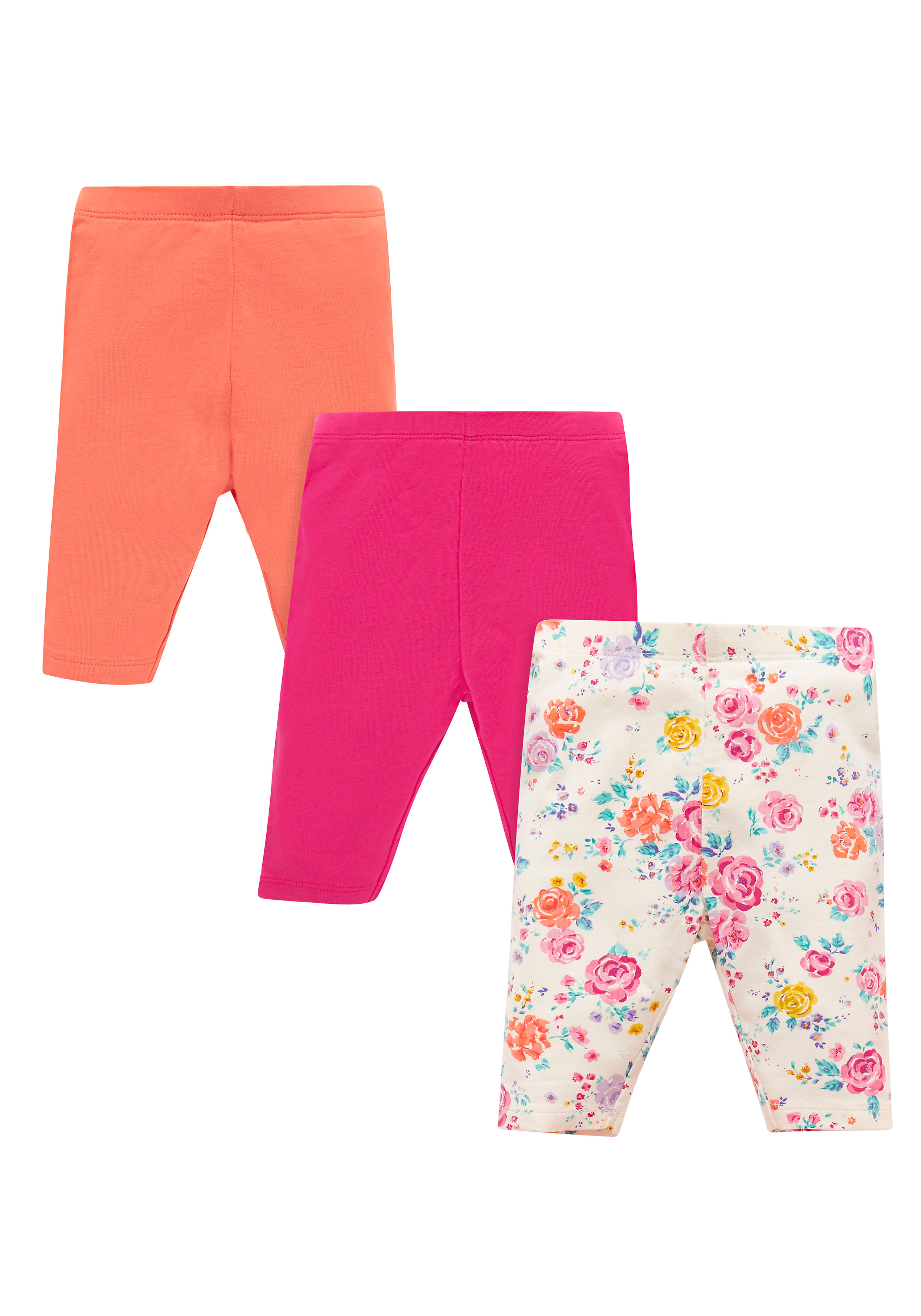 Mothercare | Girls Floral Print Cropped Leggings - Multicolor