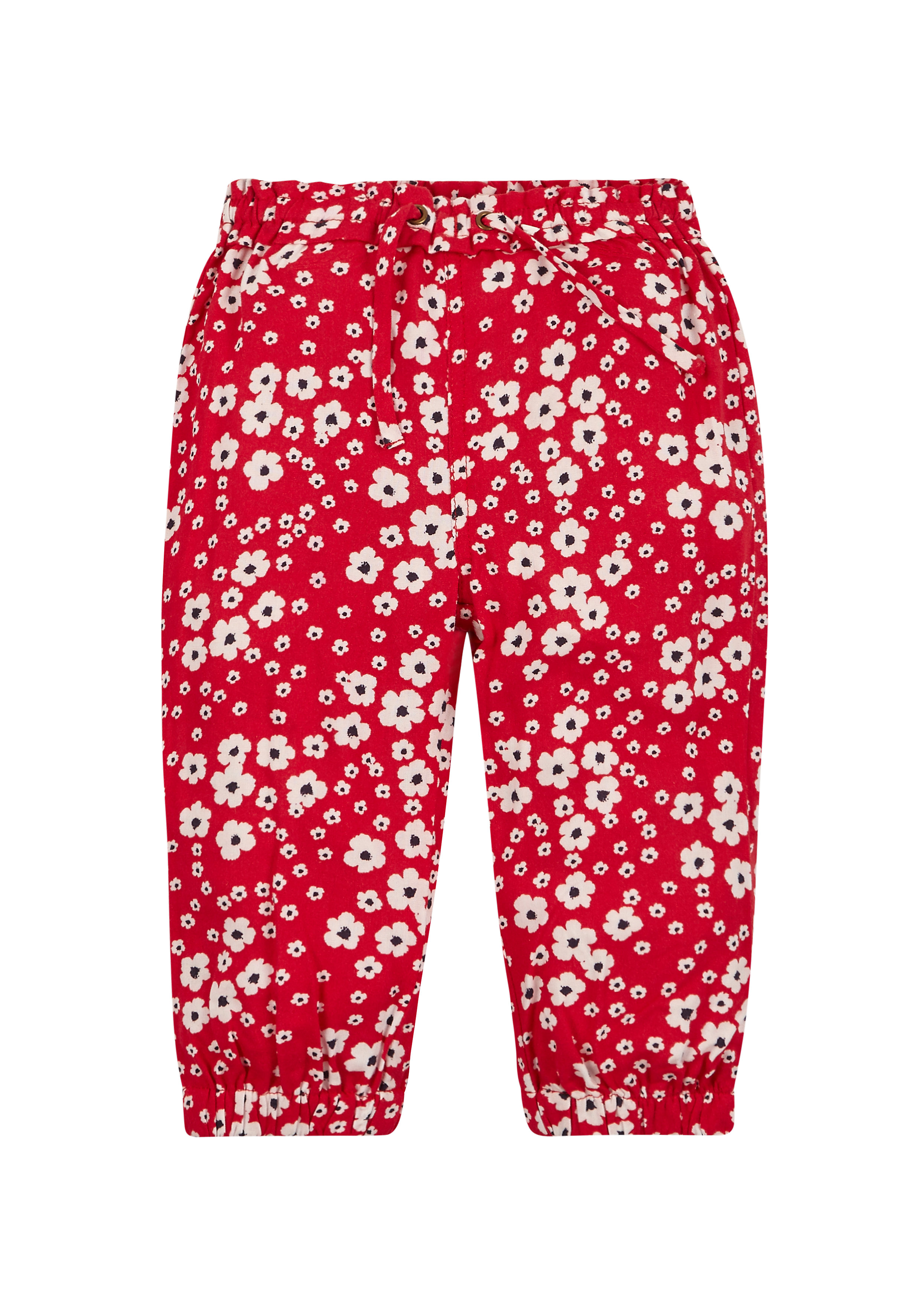 Mothercare | Girls Floral Harem Trousers - Red