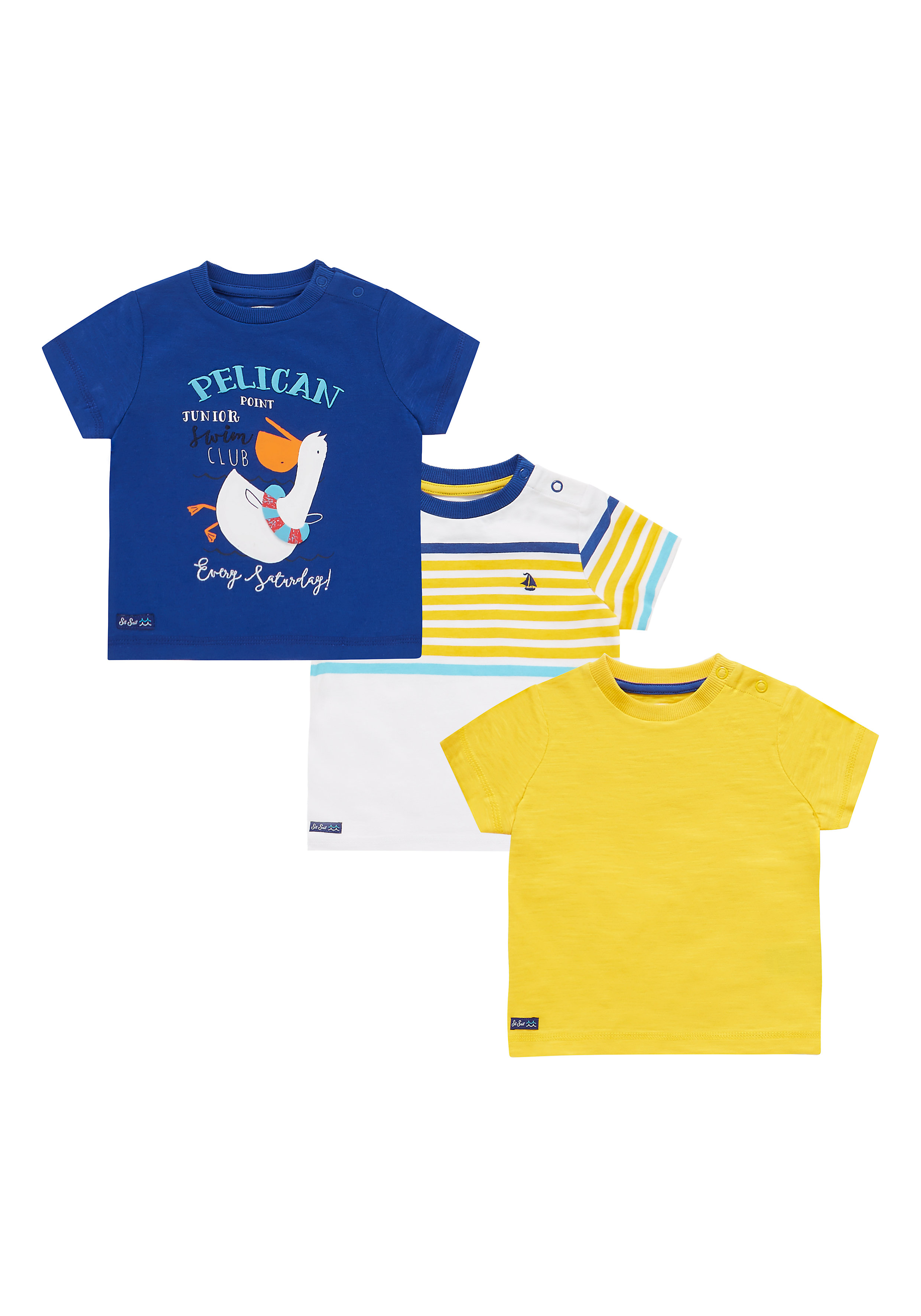 Mothercare | Boys Half Sleeves Printed T-Shirt - Pack Of 3 - Multicolor