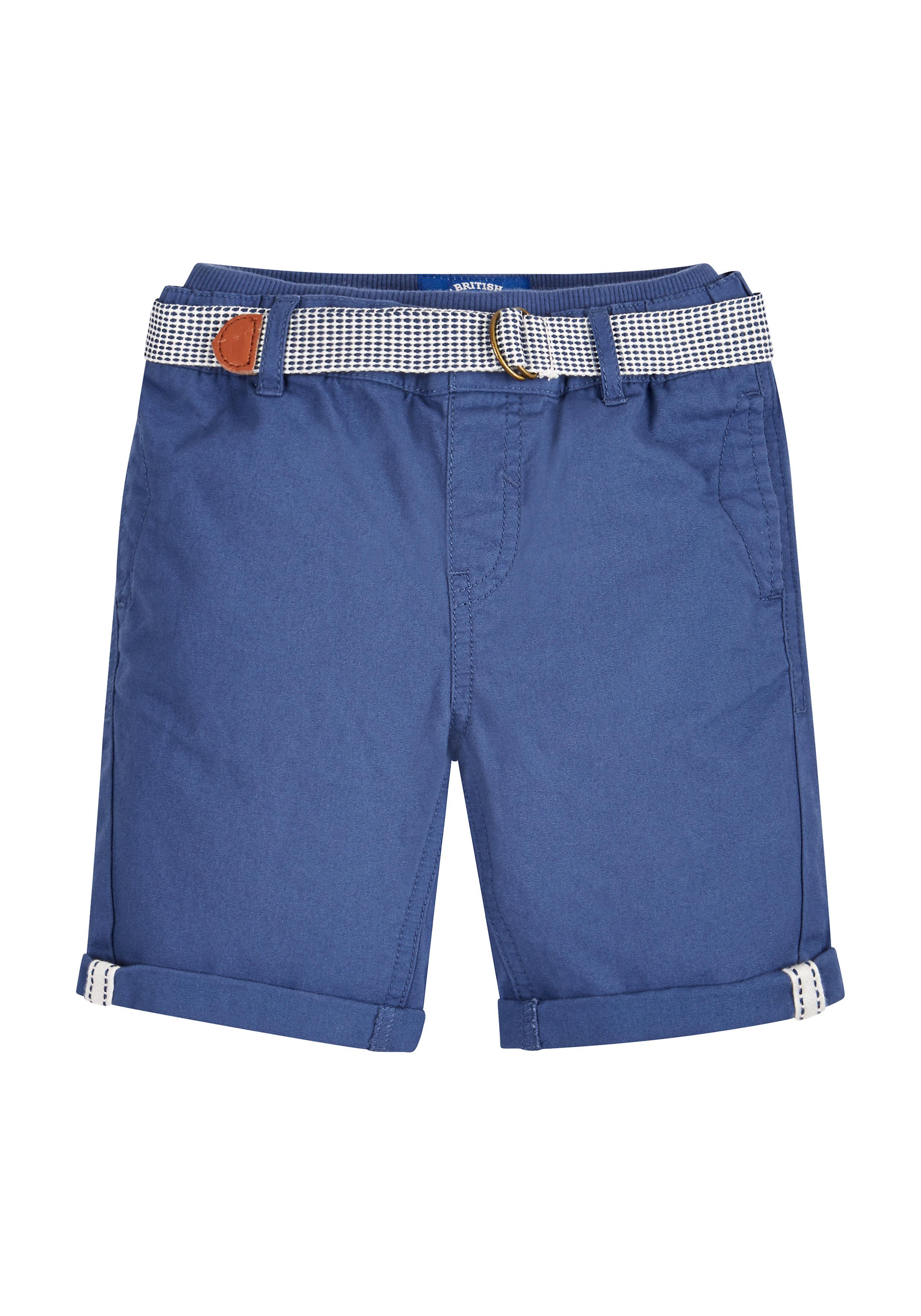 Mothercare   Boys Ribbed Waist Shorts - Navy