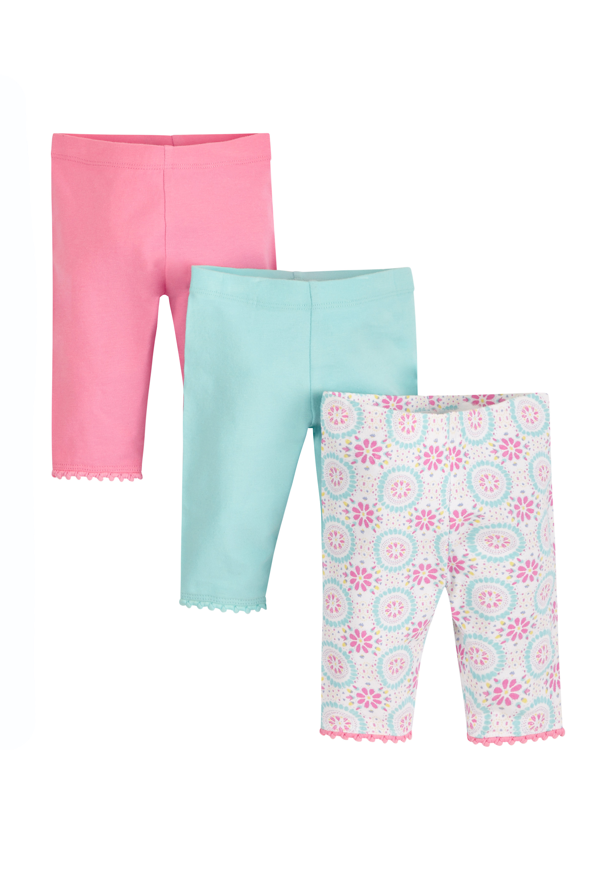 Mothercare | Girls Cropped Leggings - Pack Of 3