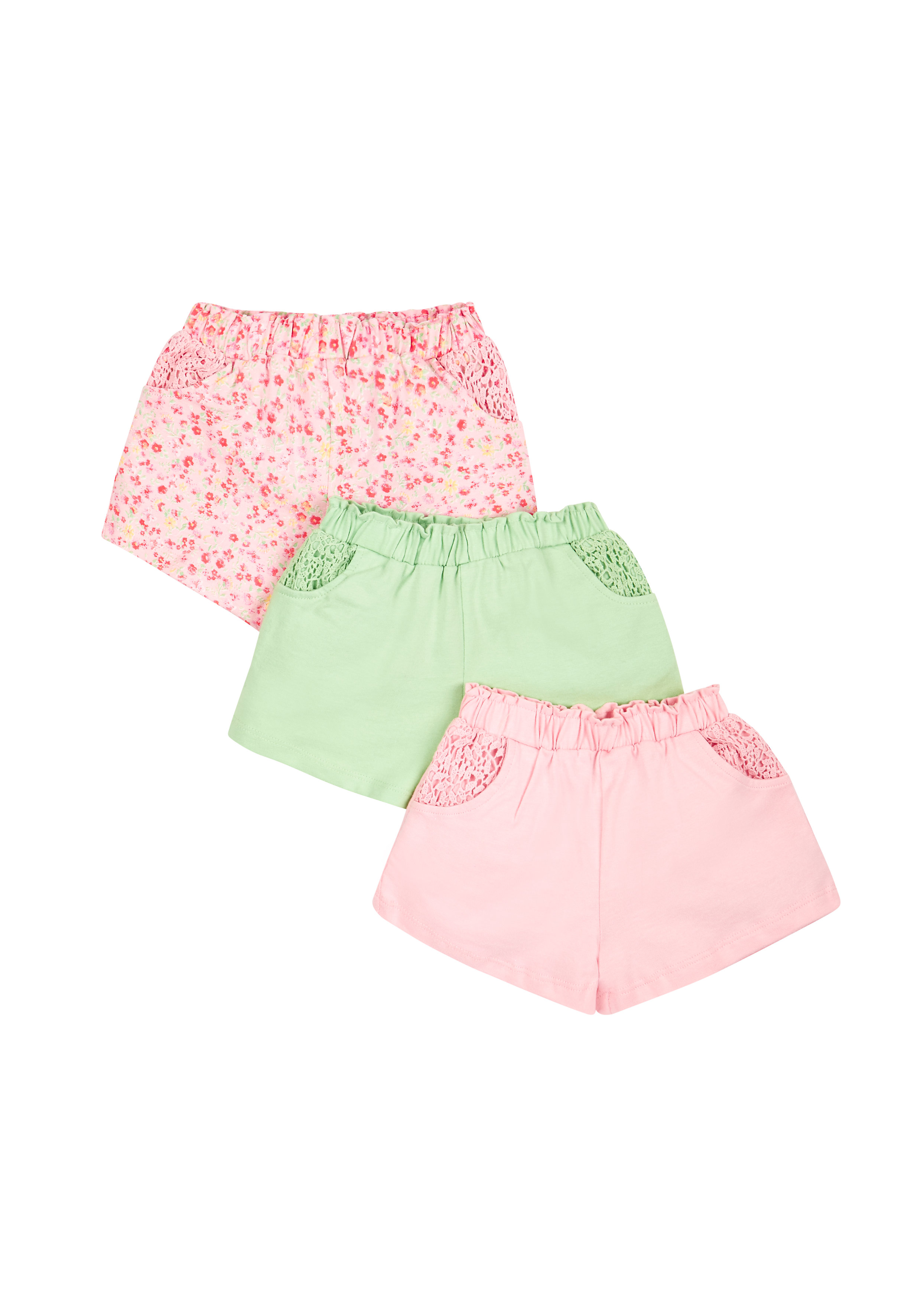 Mothercare | Girls Shorts - Pack Of 3