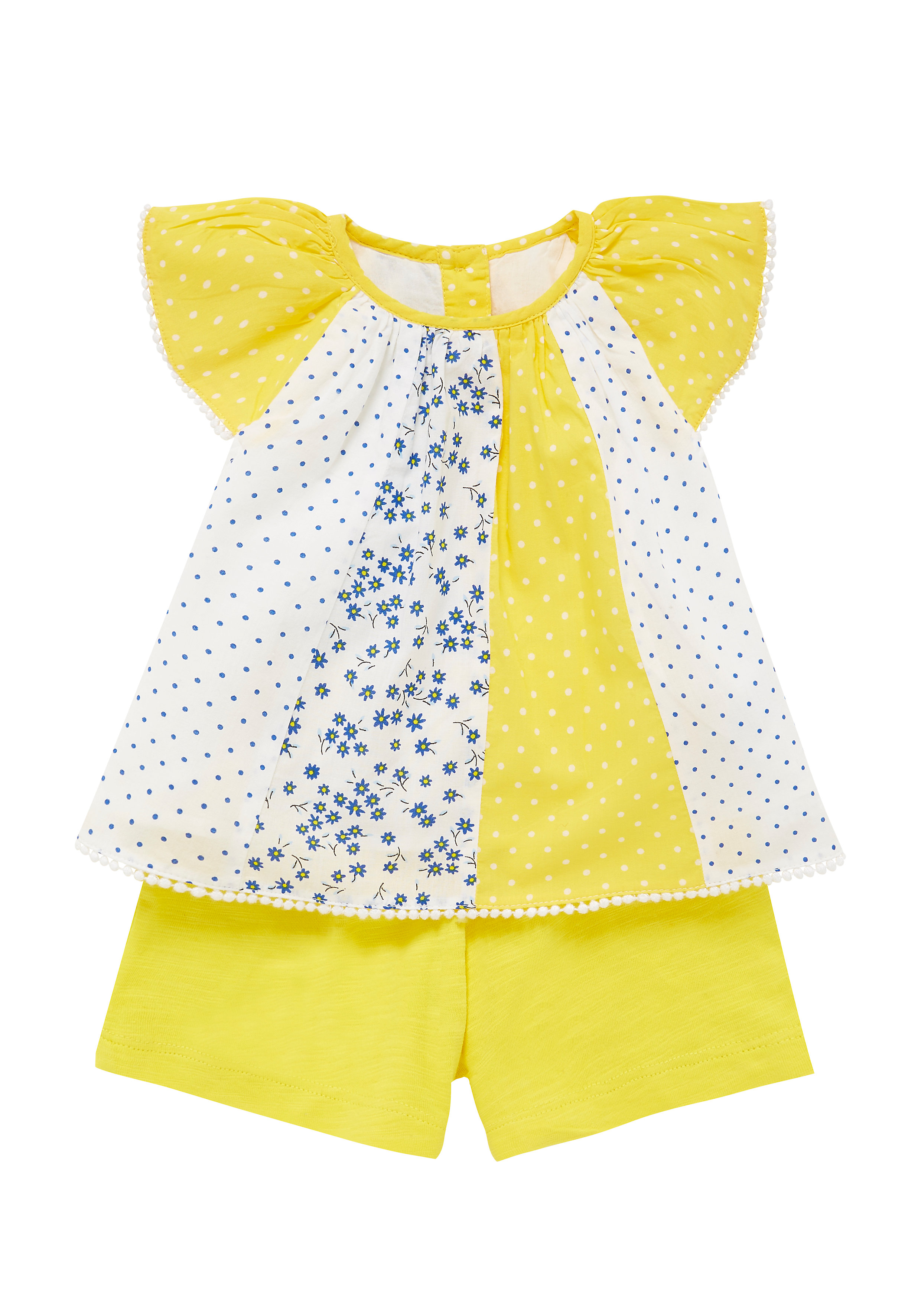 Mothercare | Girls Blouse And Shorts Set