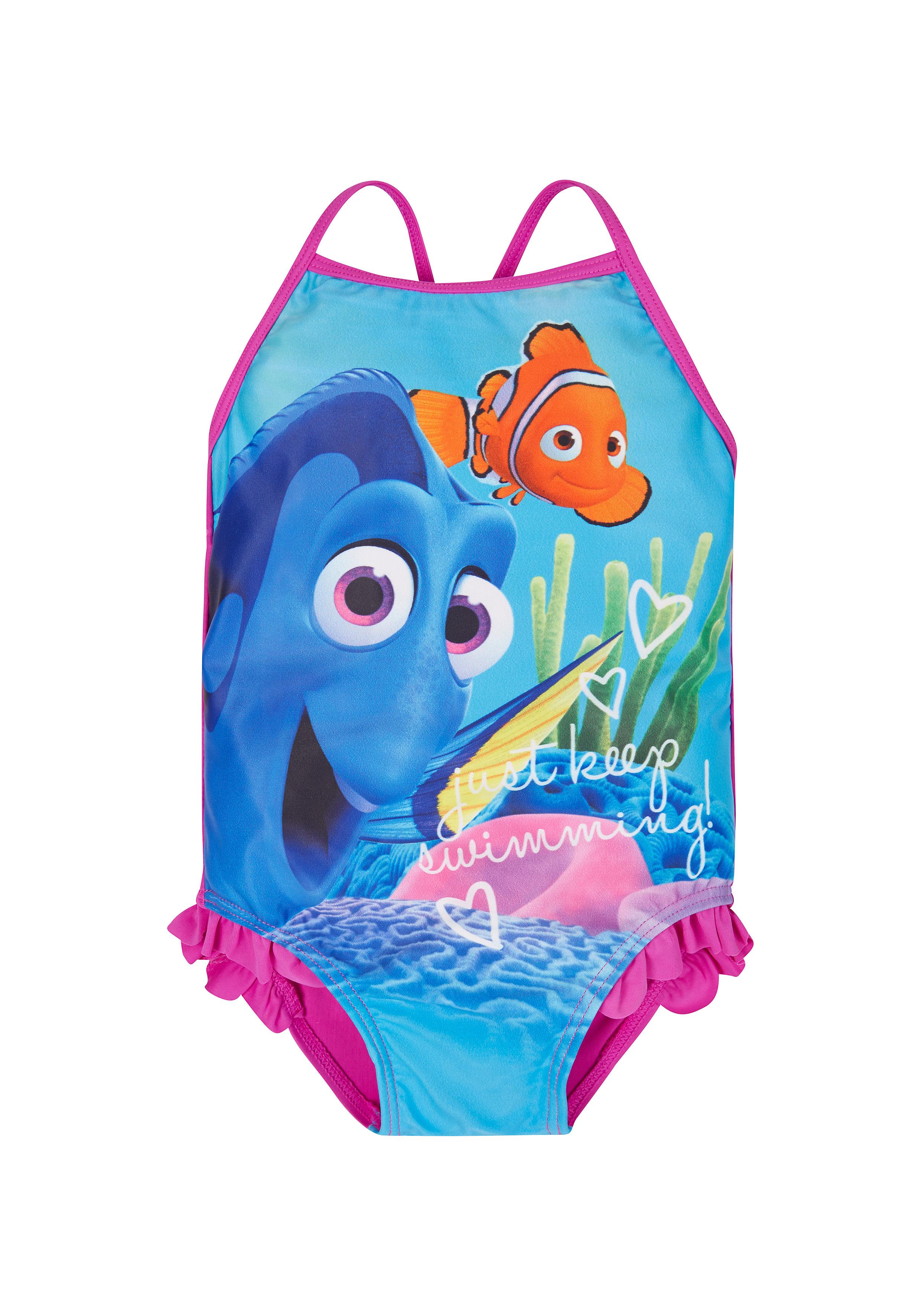 Mothercare   Girls Disney Dory Swimsuit - Blue