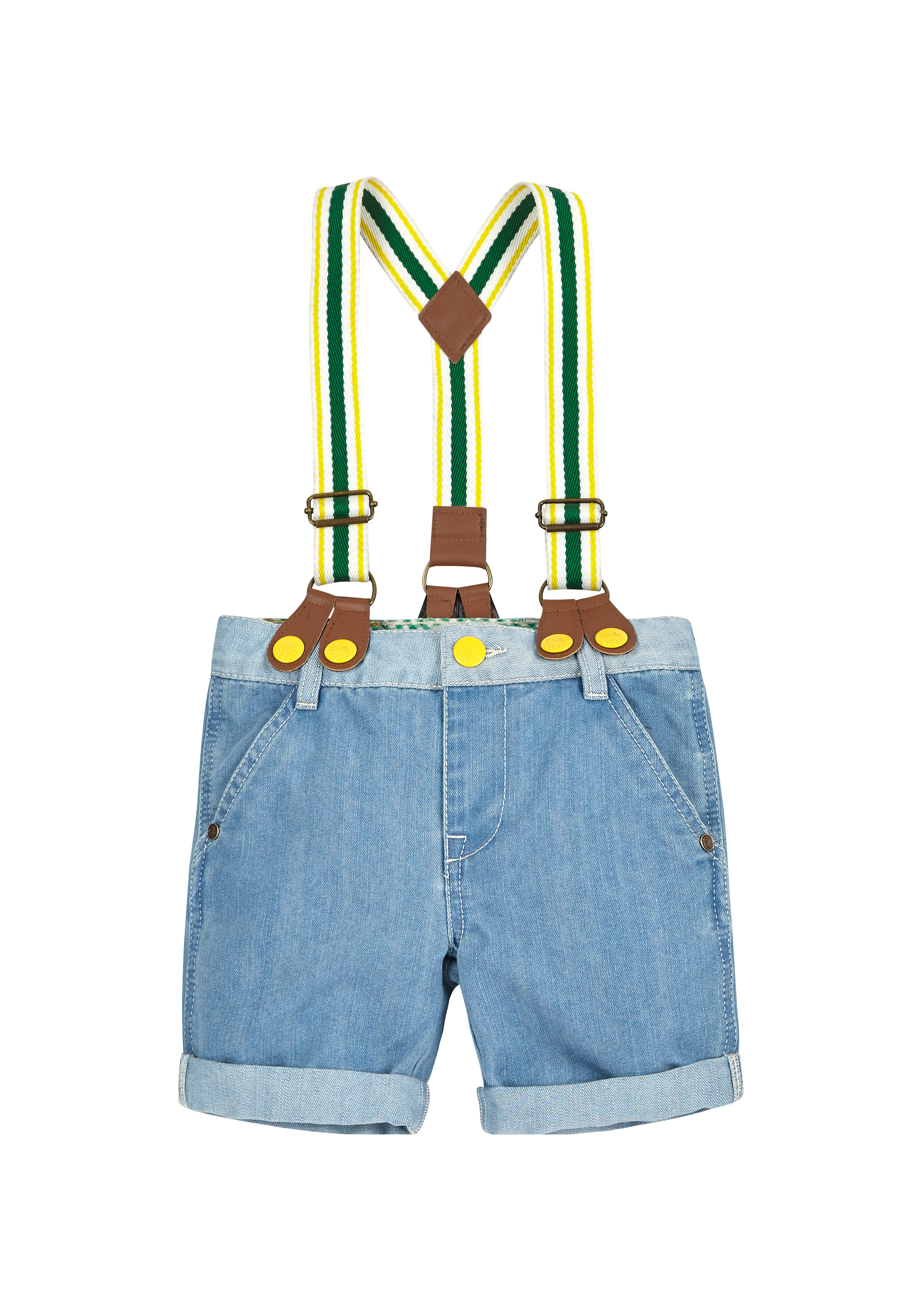 Mothercare | Boys Little Bird By Jools Denim Shorts With Braces