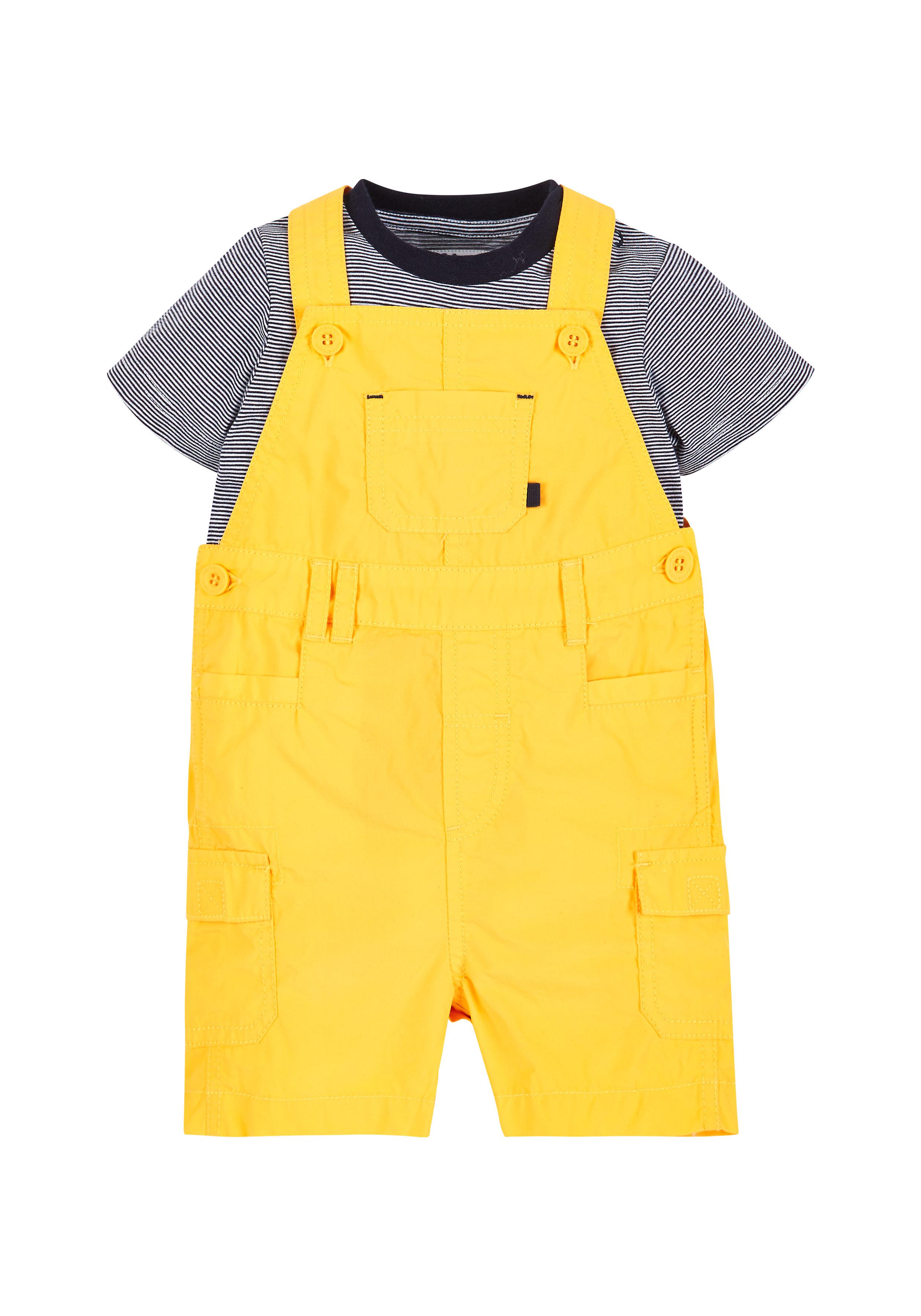 Mothercare | Yellow Boys Dungarees And T-Shirt Set