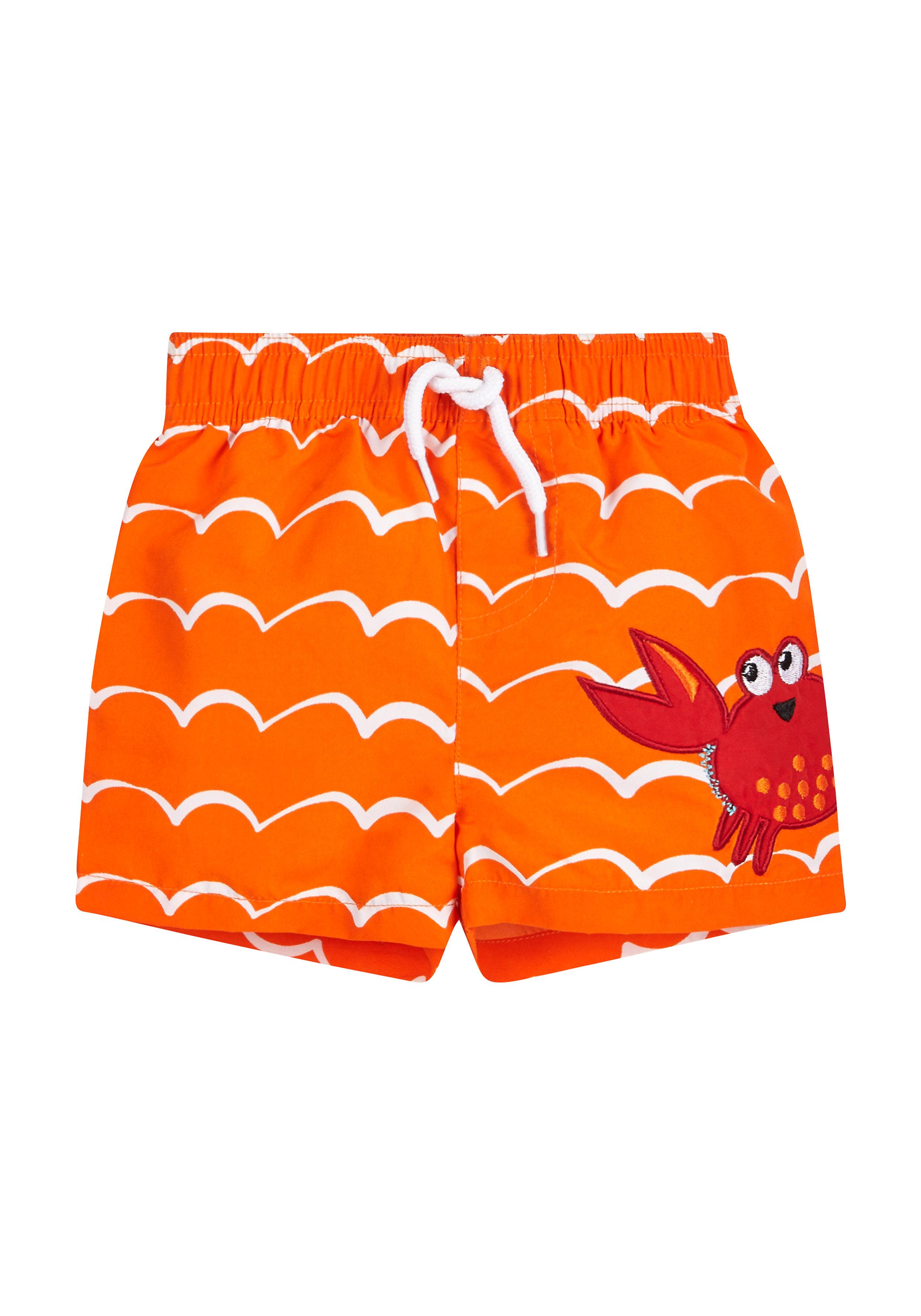 Mothercare | Orange Boys Crab Swimming Shorts