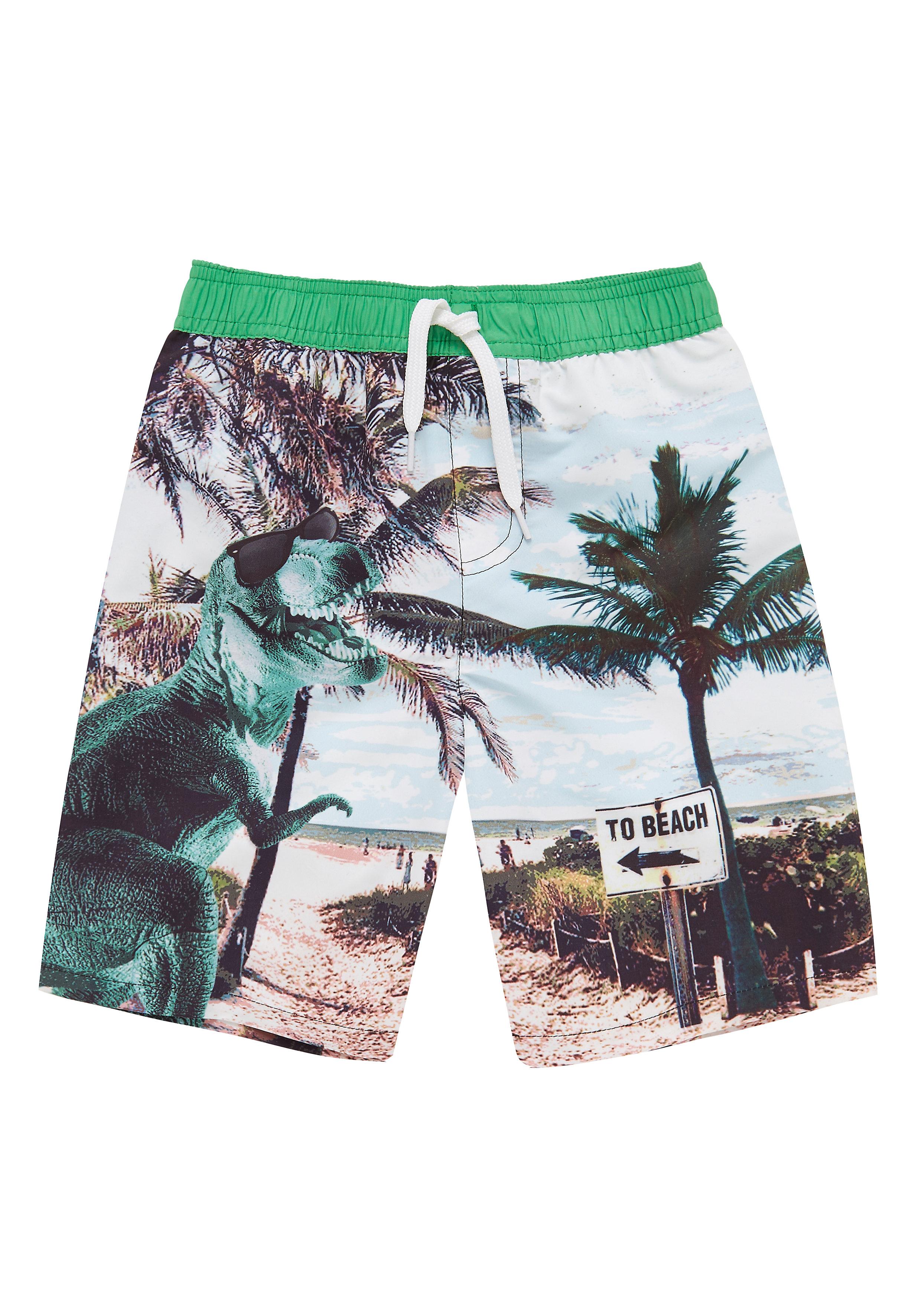 Mothercare   Multicolor Boys Dinosaur Beach Swim Shorts