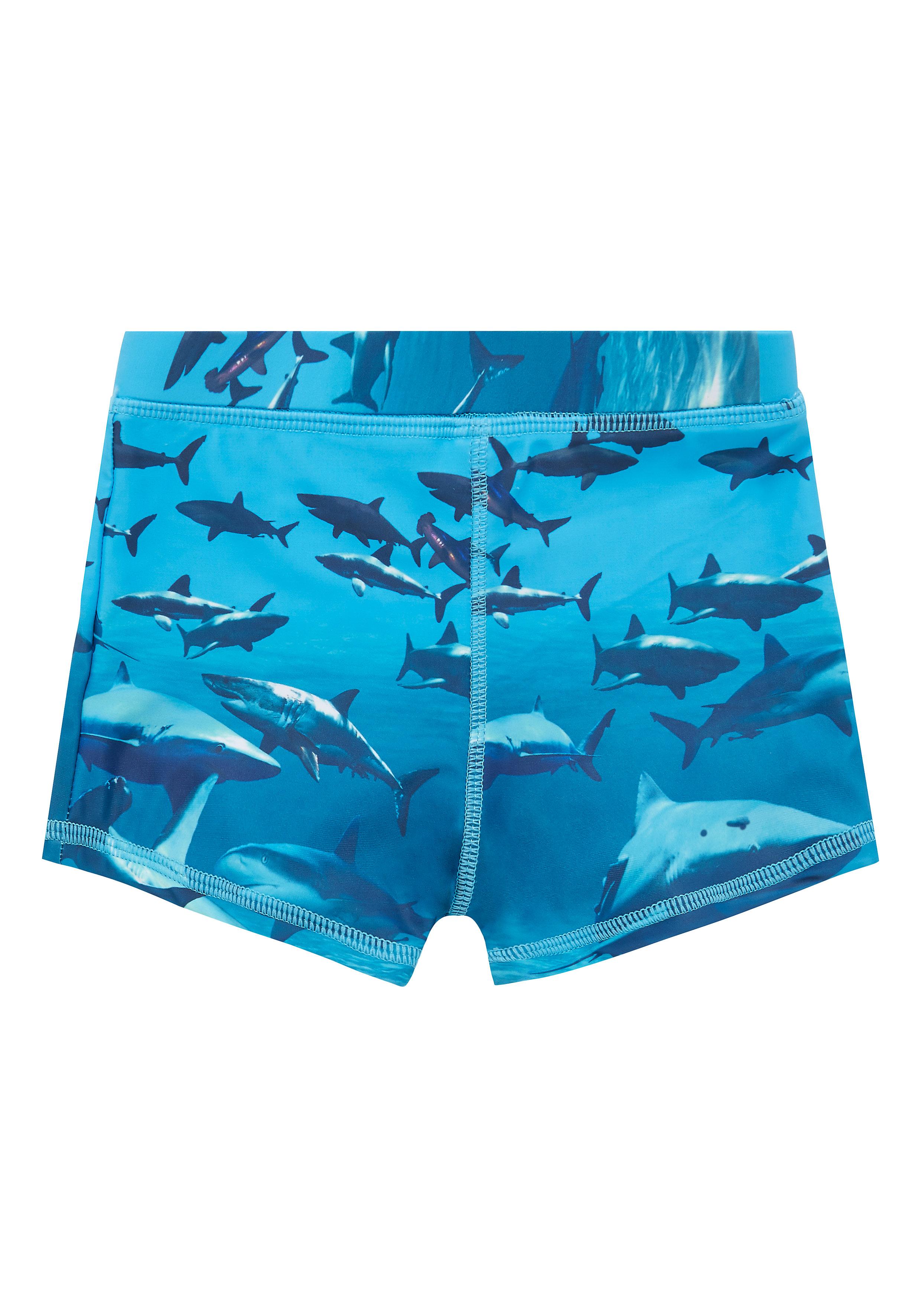 Mothercare | Blue Boys Shark Trunkie