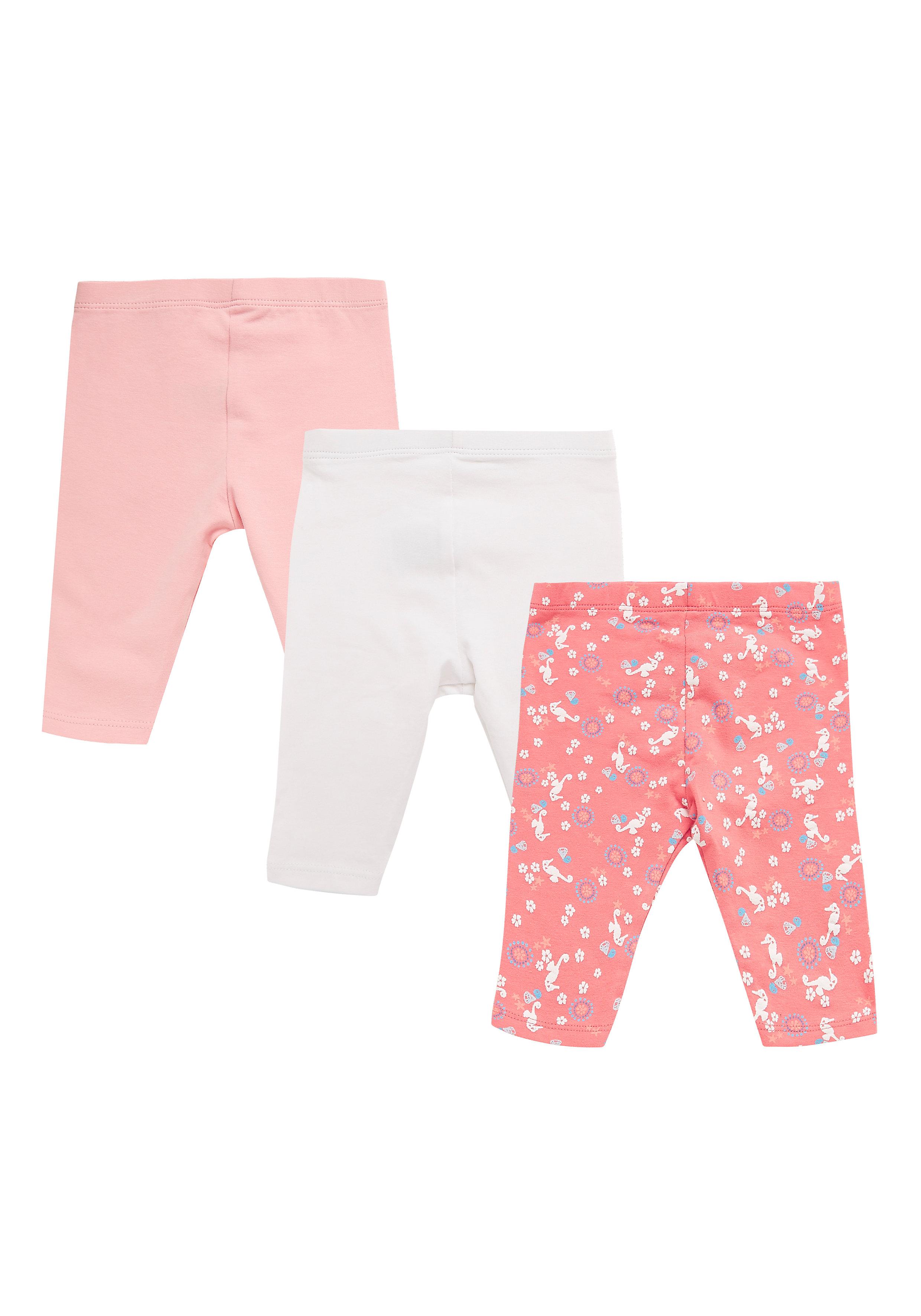 Mothercare | Girls Printed Leggings - Pack Of 3