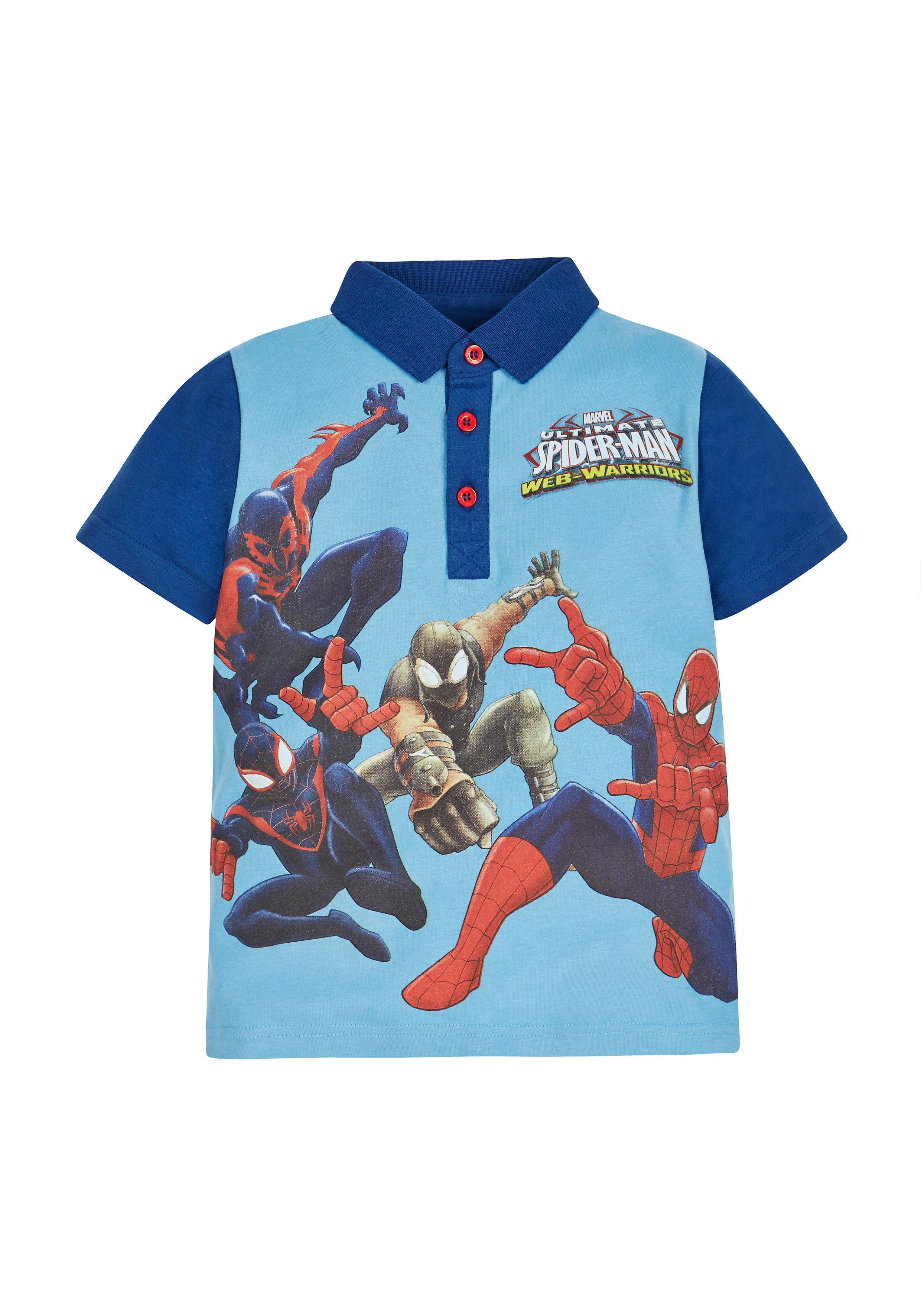 Mothercare | Boys Marvel Spiderman Polo Top - Blue