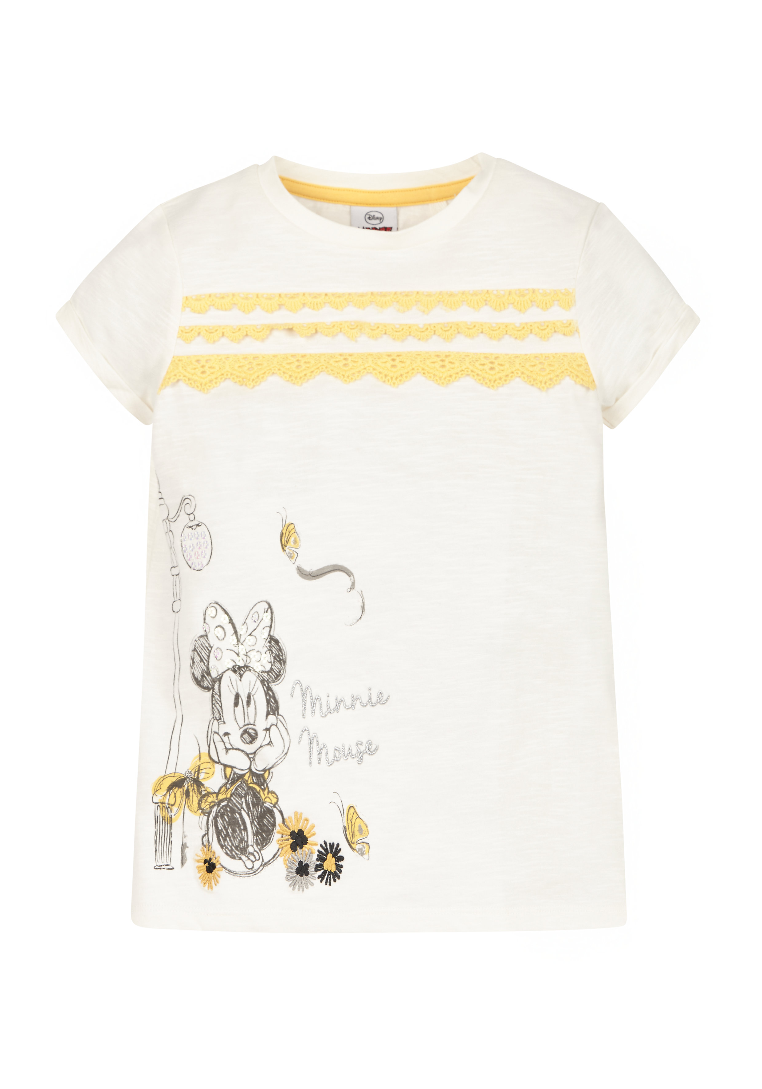Mothercare | Girls Disney Minnie Mouse T-Shirt  - White